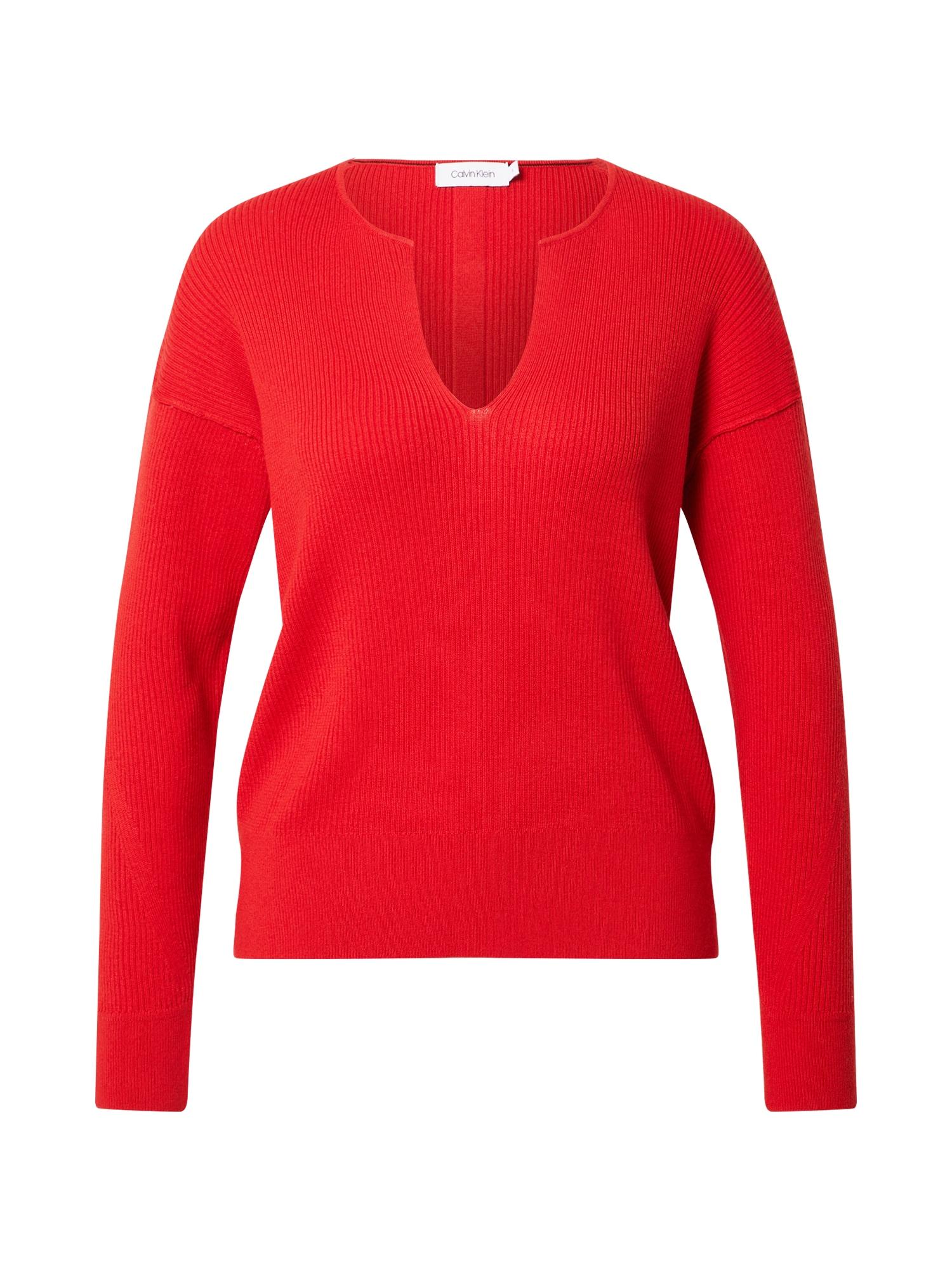 Calvin Klein Megztinis raudona / juoda