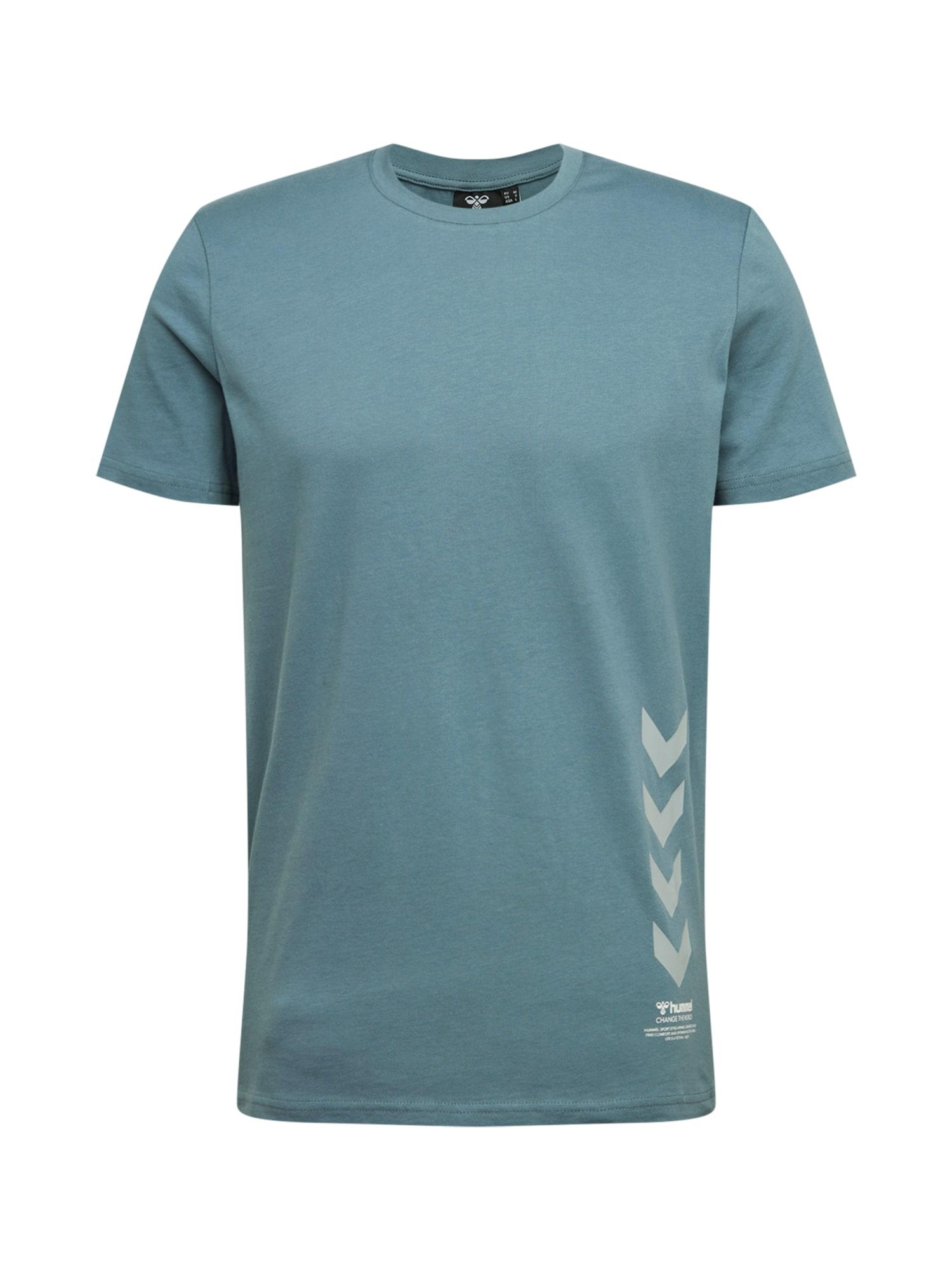 Hummel Marškinėliai 'DUNCAN' melsvai pilka / balta / pilka
