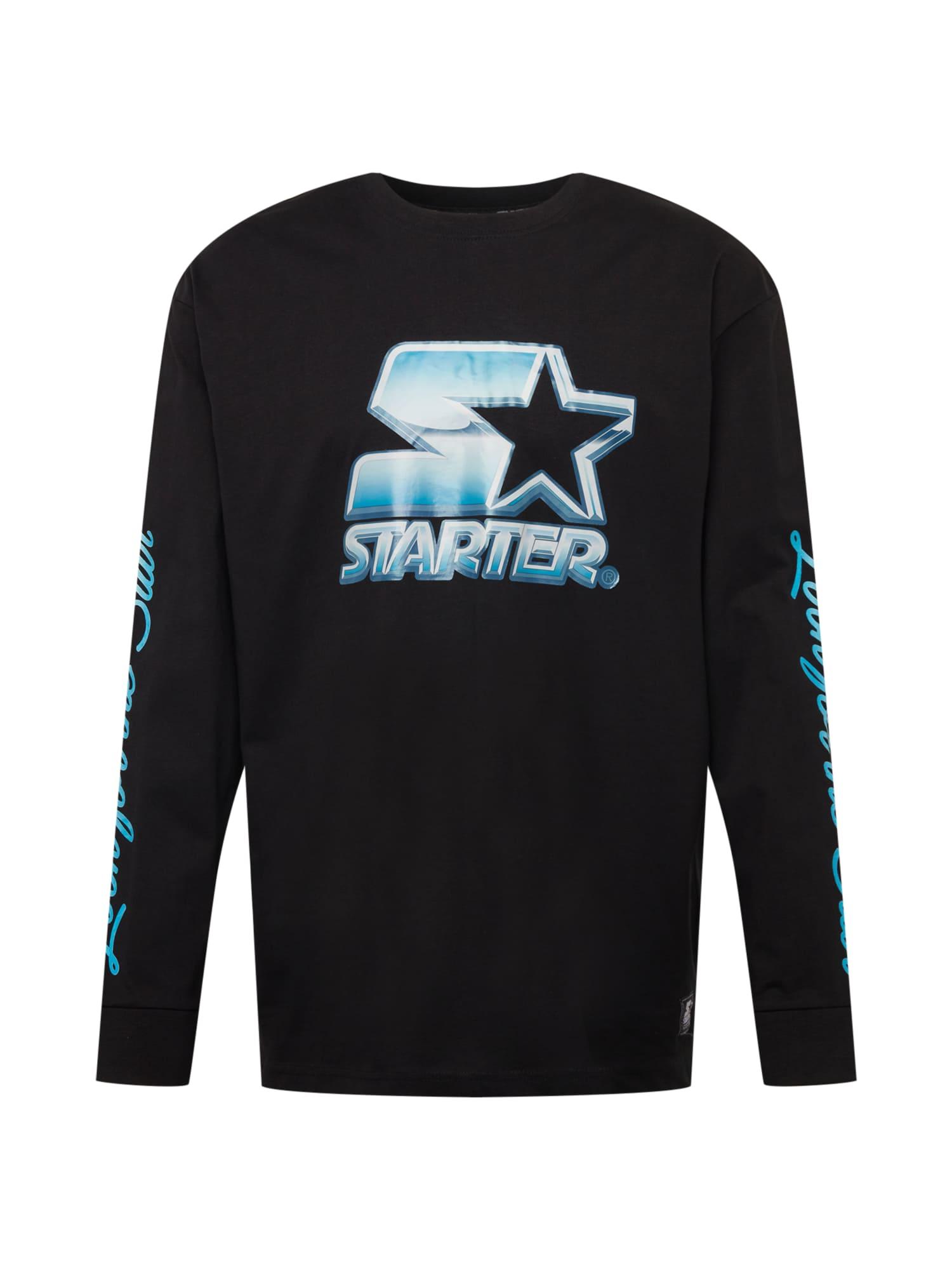 Starter Black Label Marškinėliai juoda / turkio spalva / azuro spalva