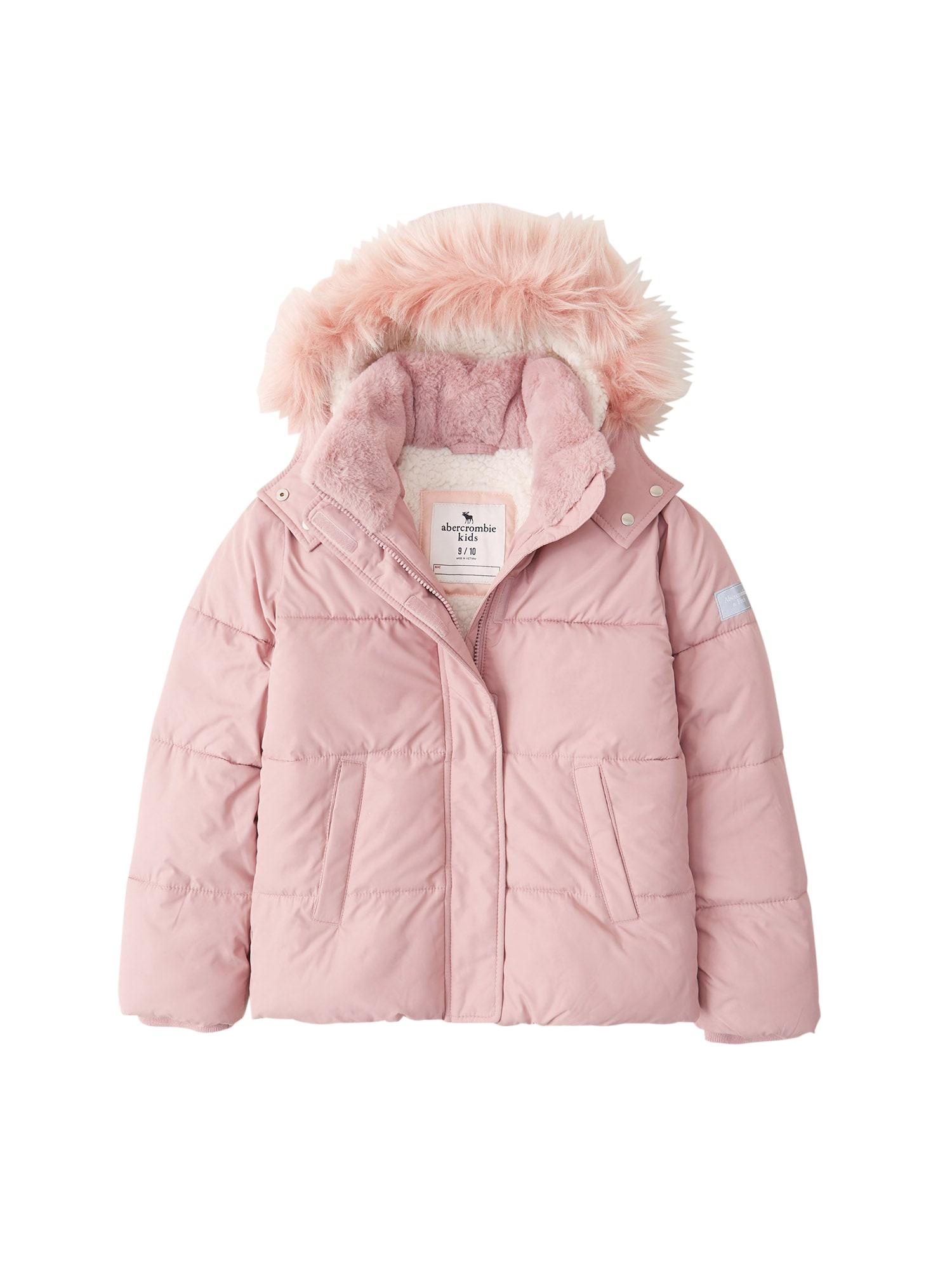 Abercrombie & Fitch Žieminė striukė tamsiai rožinė