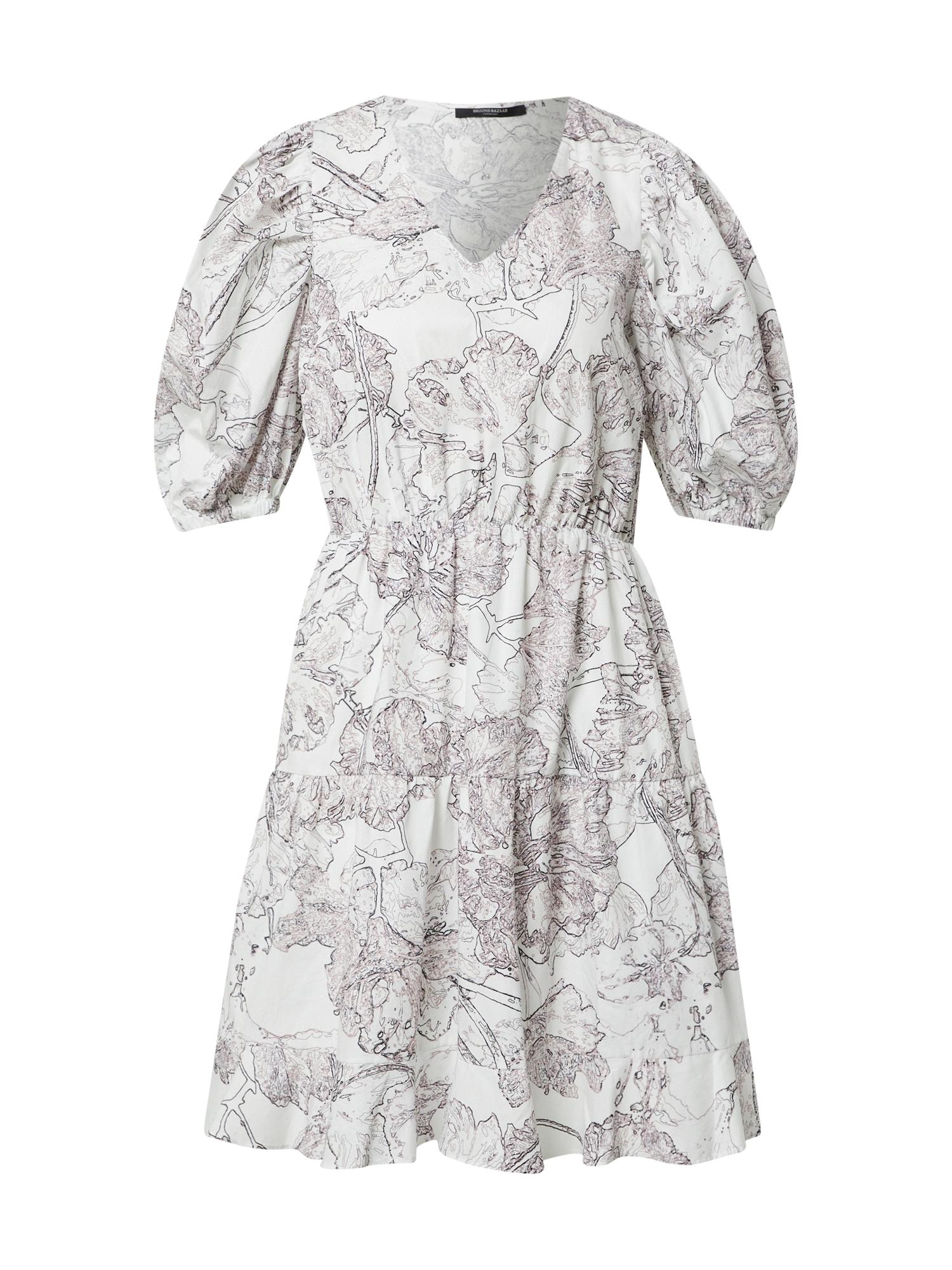 BRUUNS BAZAAR Vasarinė suknelė balta / purpurinė / juoda