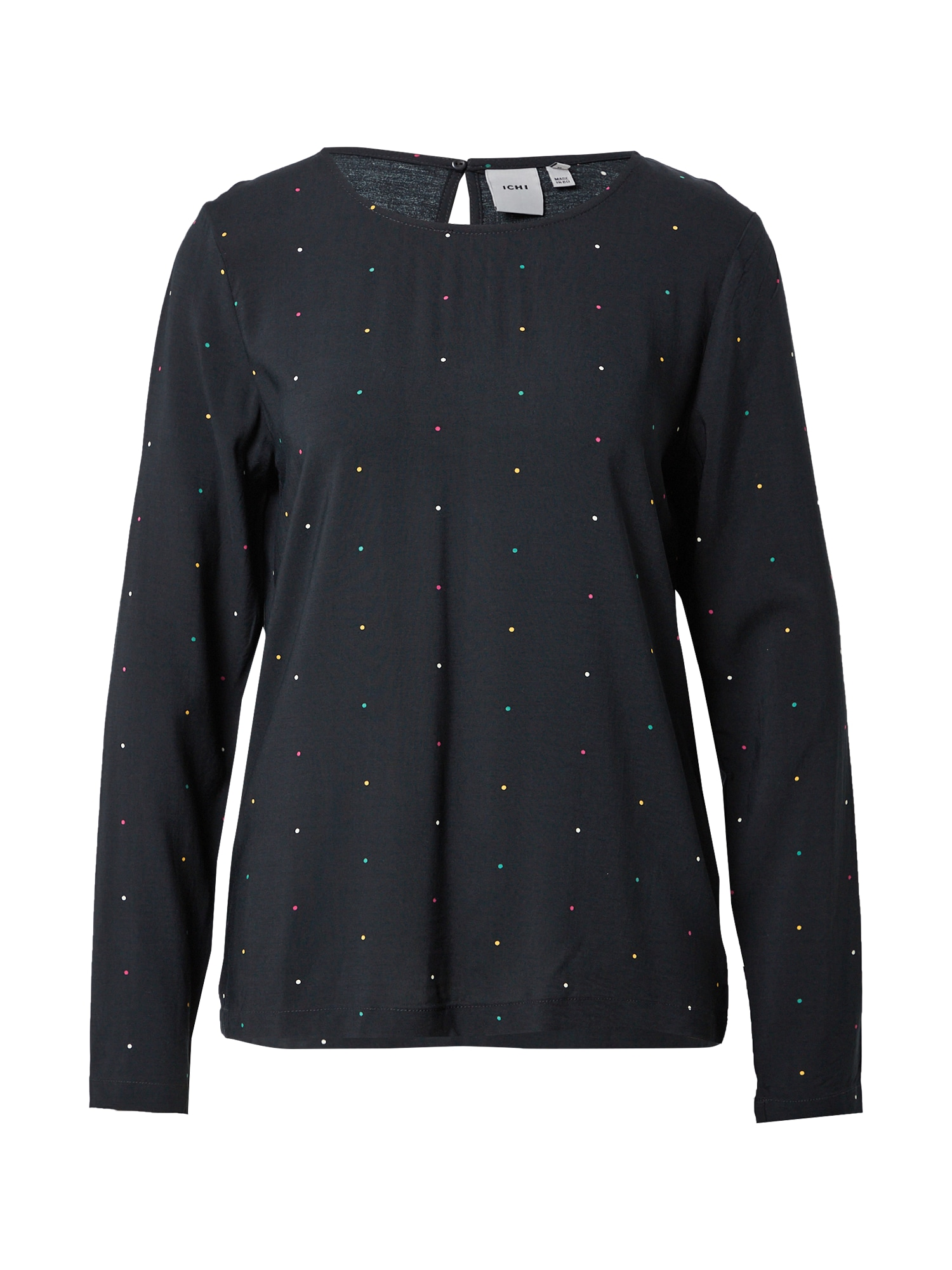 ICHI Marškinėliai juoda / mišrios spalvos