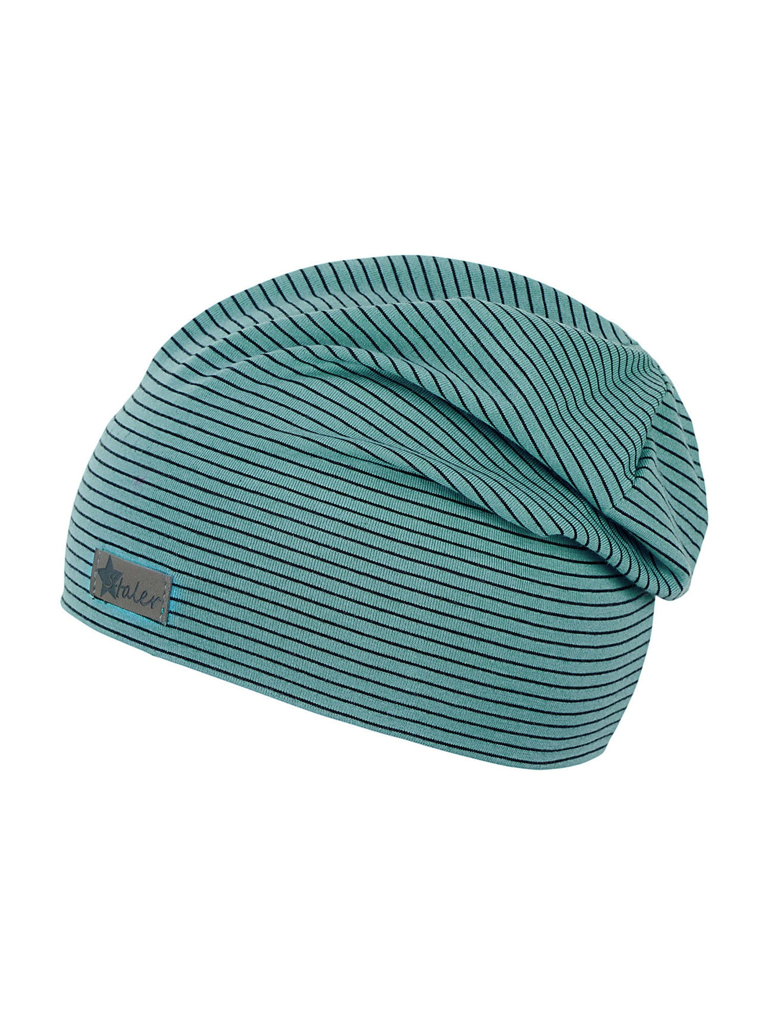 STERNTALER Megzta kepurė nefrito spalva / juoda