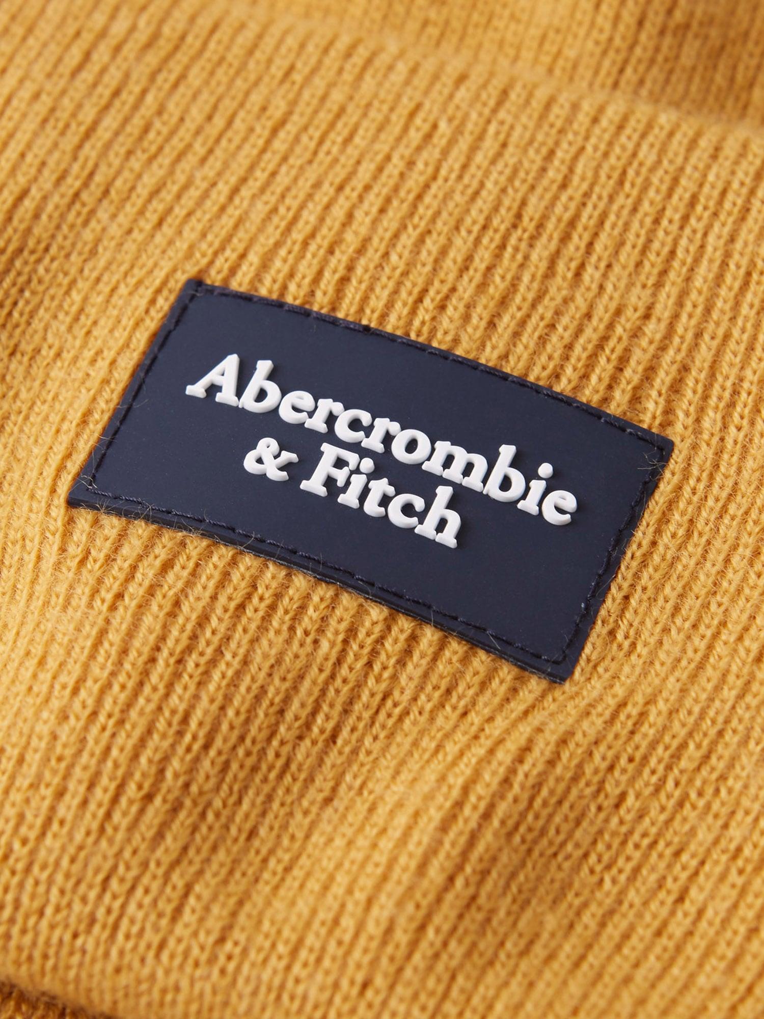 Abercrombie & Fitch Mössa 'BEANIE CORE TURN UP'  gul
