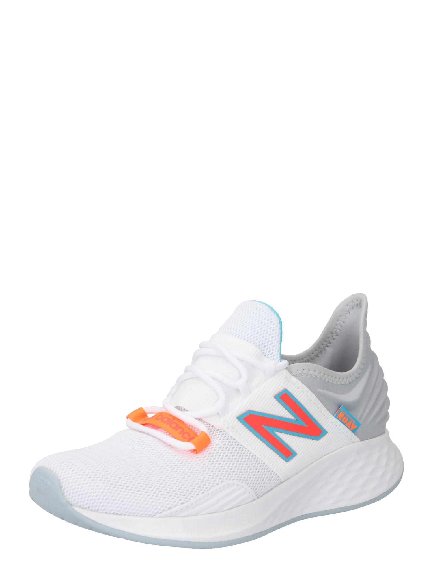 new balance Bėgimo batai balta / pilka / melionų spalva / dangaus žydra / oranžinė
