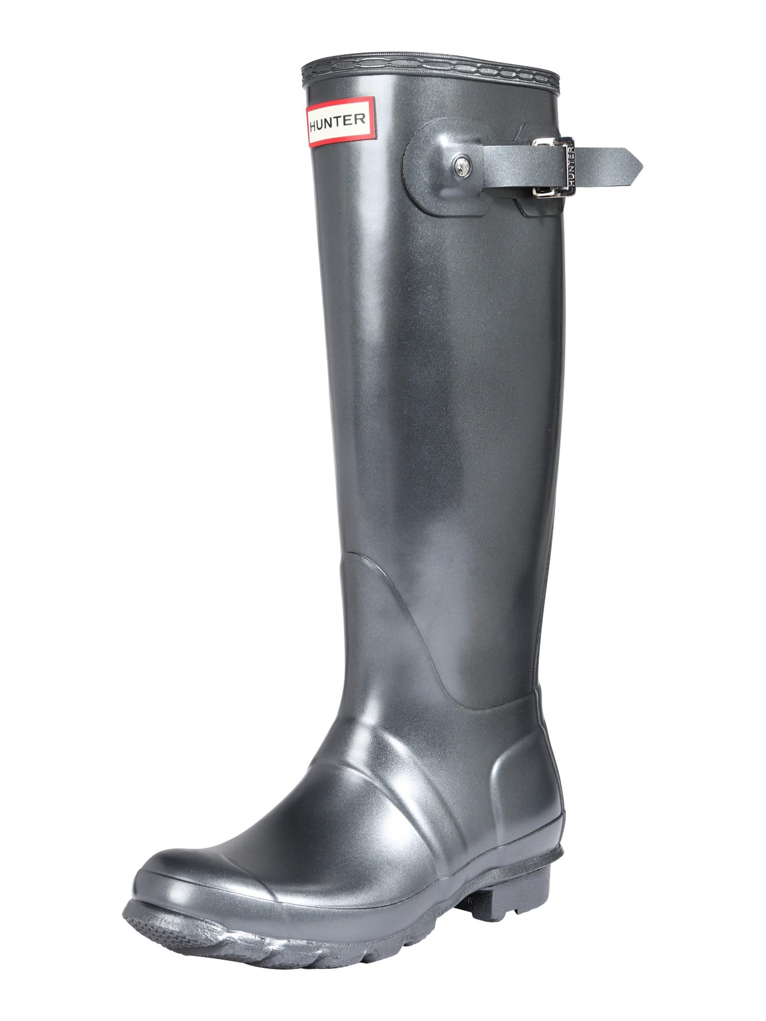 HUNTER Guminiai batai sidabrinė