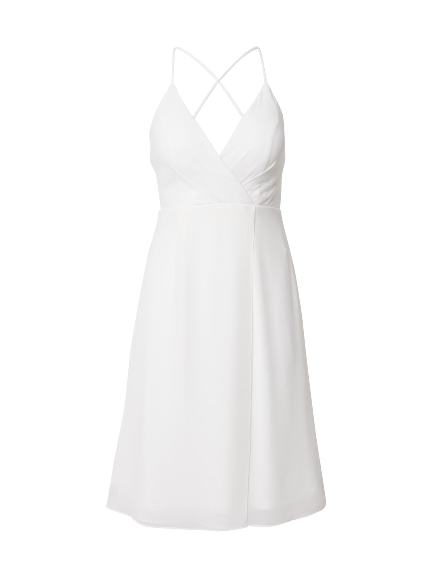STAR NIGHT Kokteilinė suknelė balta