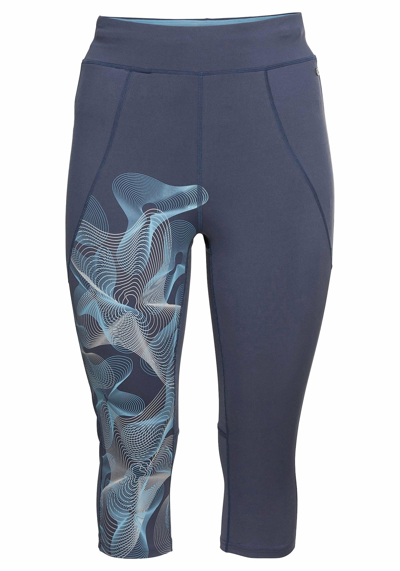 SHEEGO Sportinės kelnės mėlyna dūmų spalva / šviesiai mėlyna / balta