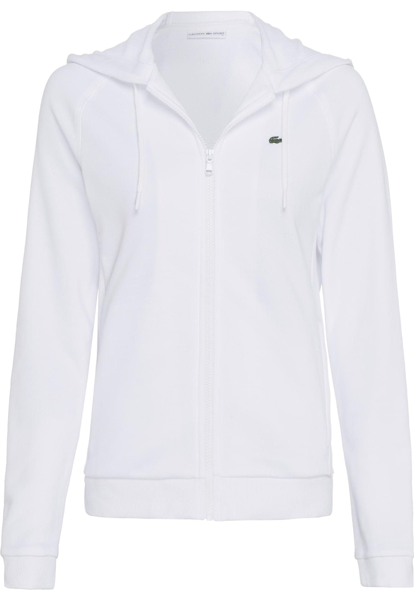 LACOSTE Džemperis balta / juoda