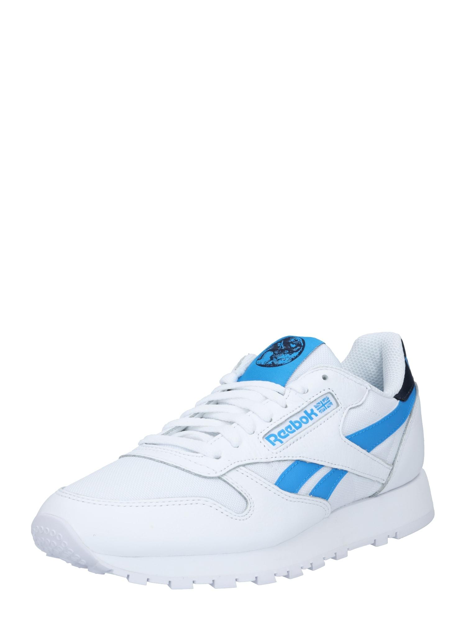 Reebok Classic Nízke tenisky 'Classic Leather'  biela / modrá
