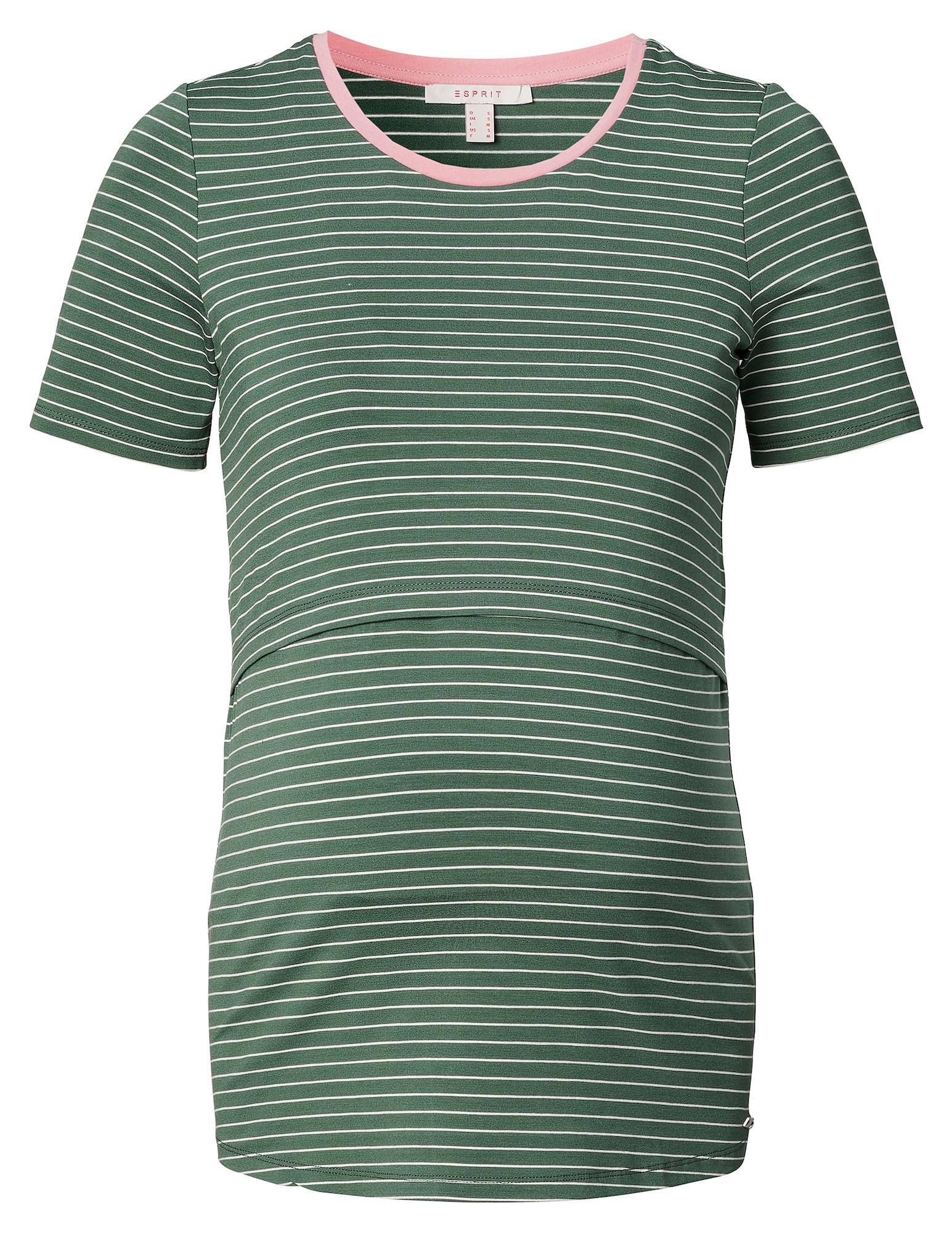 Esprit Maternity Marškinėliai žalia / balta / rožinė