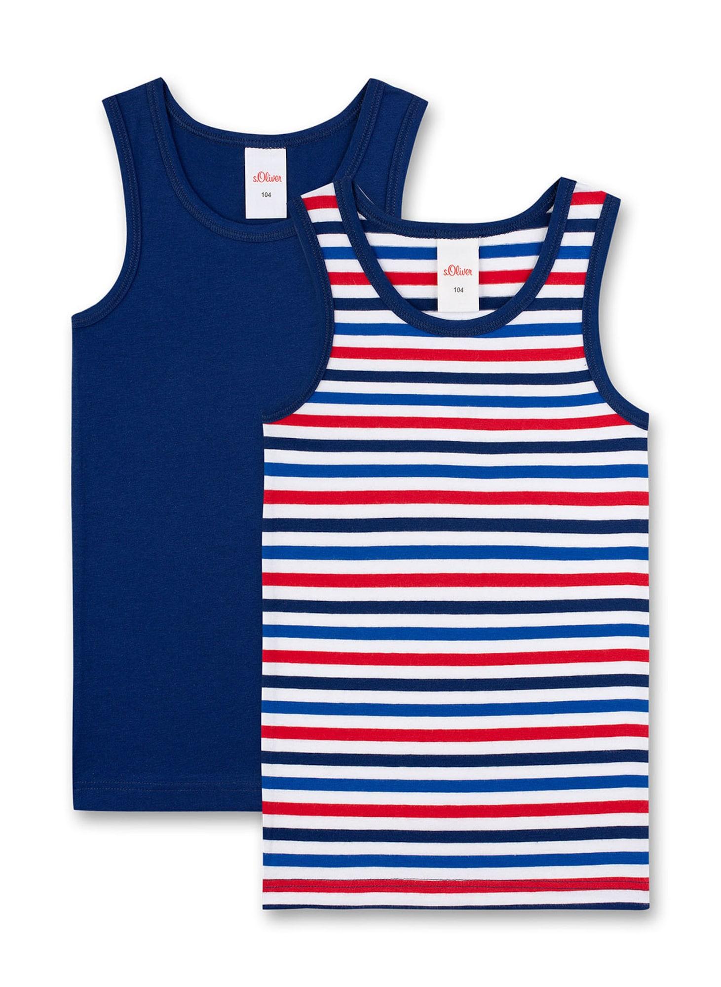 s.Oliver Apatiniai marškinėliai balta / mėlyna / raudona