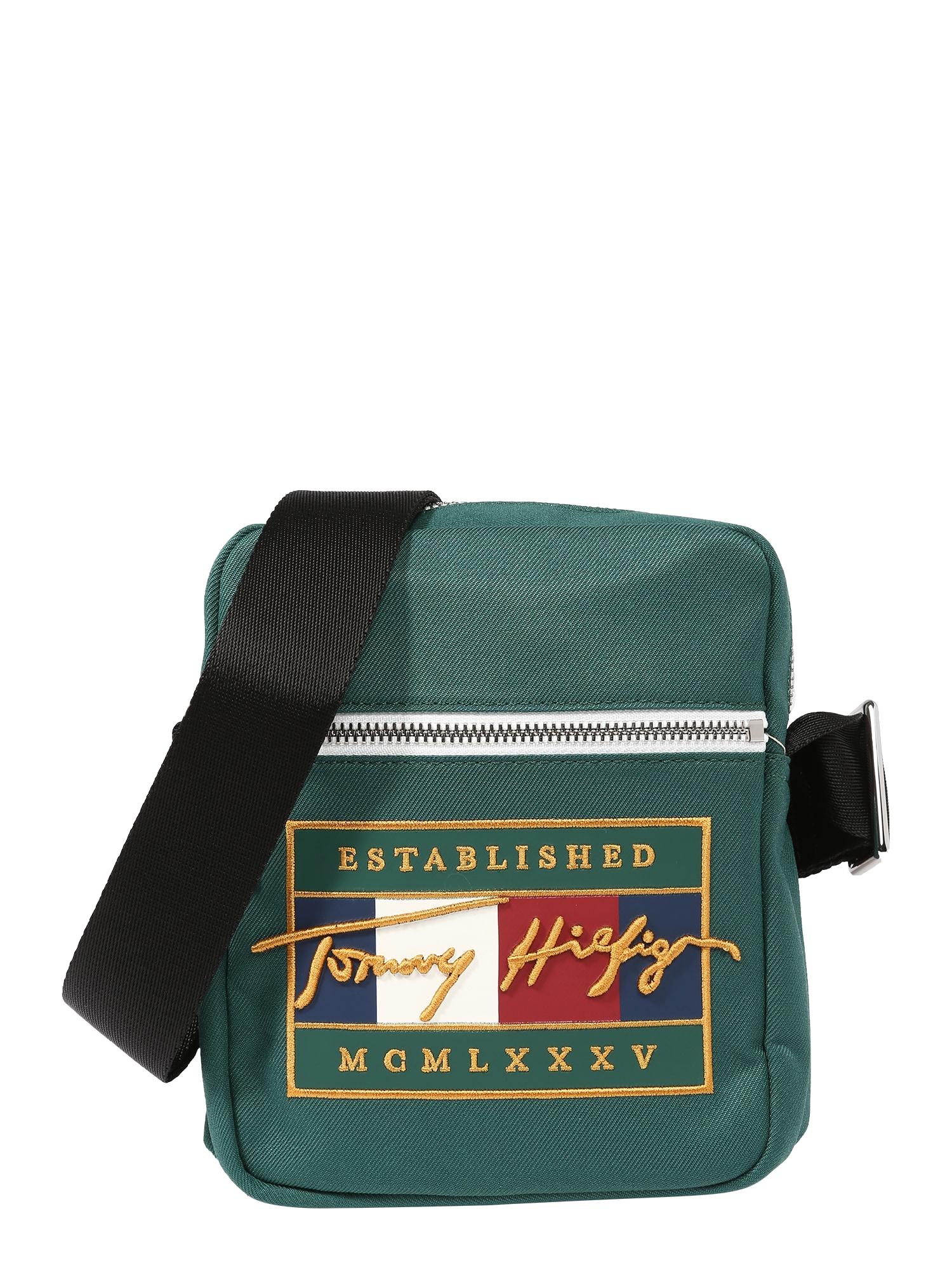 TOMMY HILFIGER Rankinė su ilgu dirželiu žalia / geltona / tamsiai mėlyna / balta / raudona