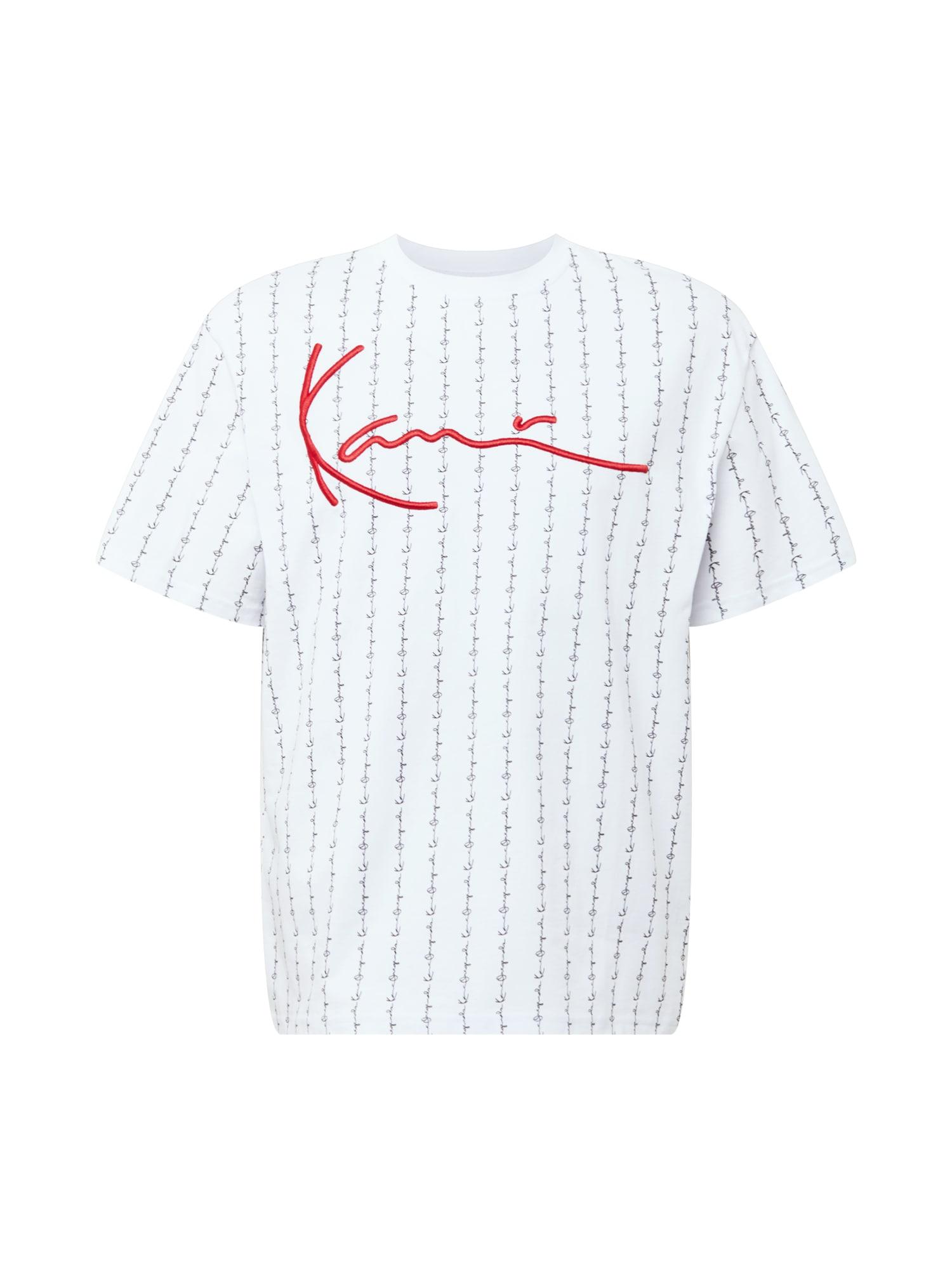 Karl Kani Marškinėliai balta / margai juoda / raudona