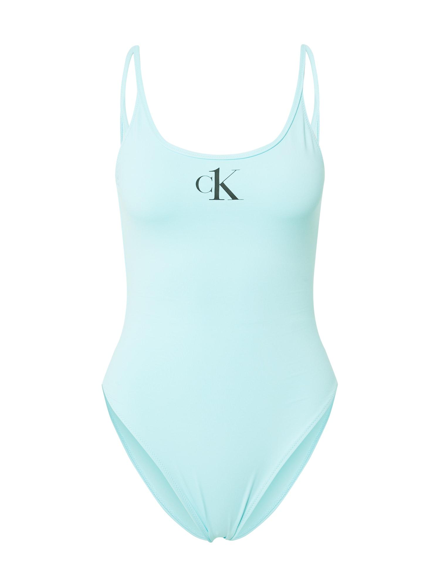 Calvin Klein Swimwear Maudymosi kostiumėlis turkio spalva / juoda