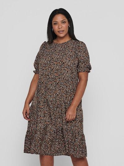 Only Carmakoma Gemustertes Kleid mit kurzen Puffärmeln