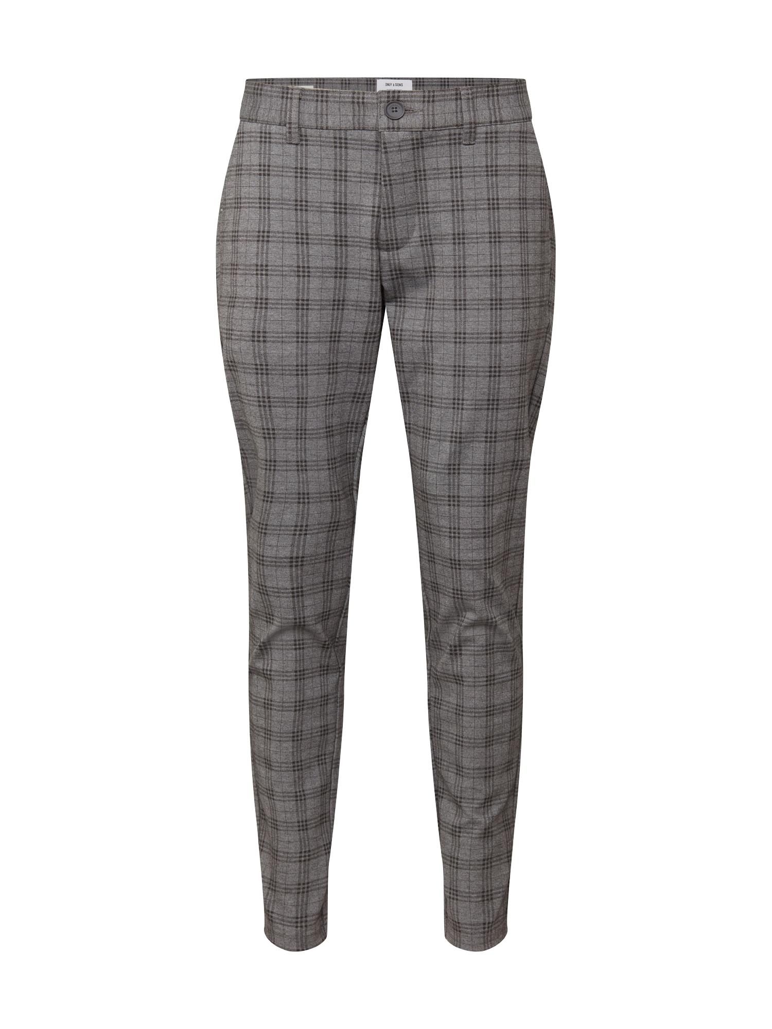 Only & Sons Chino kalhoty 'MARK'  šedá / černá