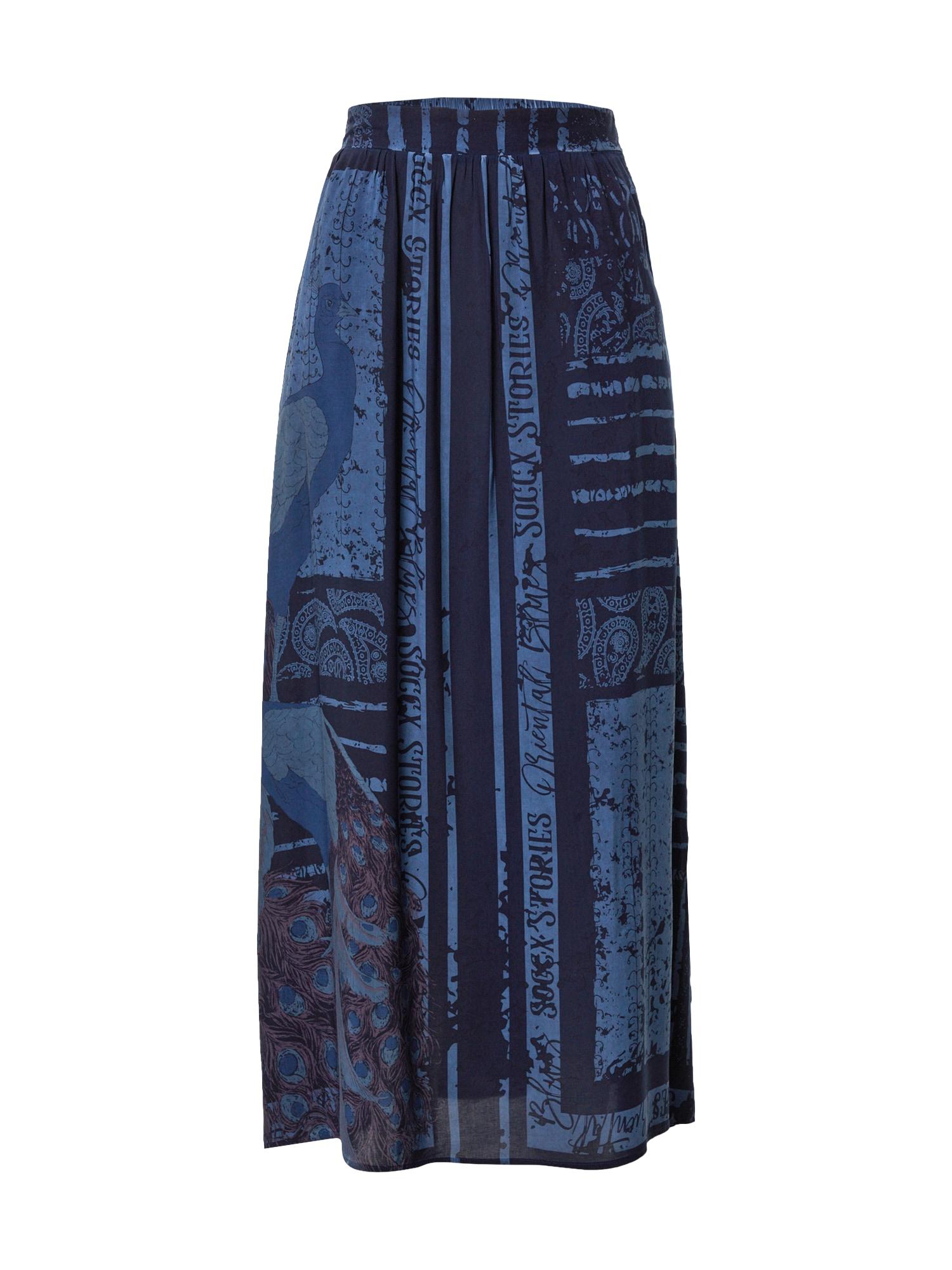 """Soccx Sijonas sodri mėlyna (""""karališka"""") / tamsiai mėlyna / tamsiai raudona"""