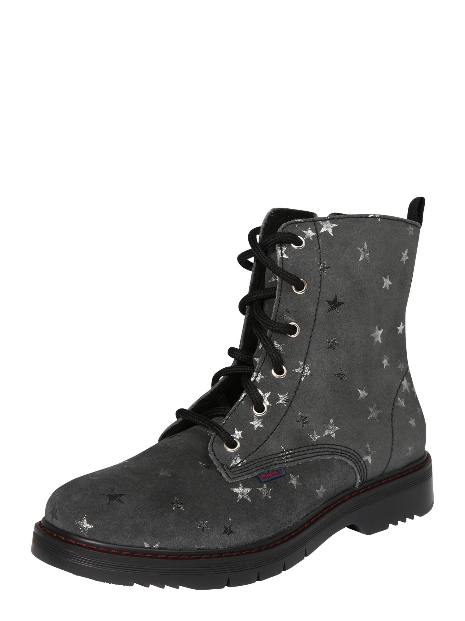 RICHTER Auliniai batai su kulniuku pilka