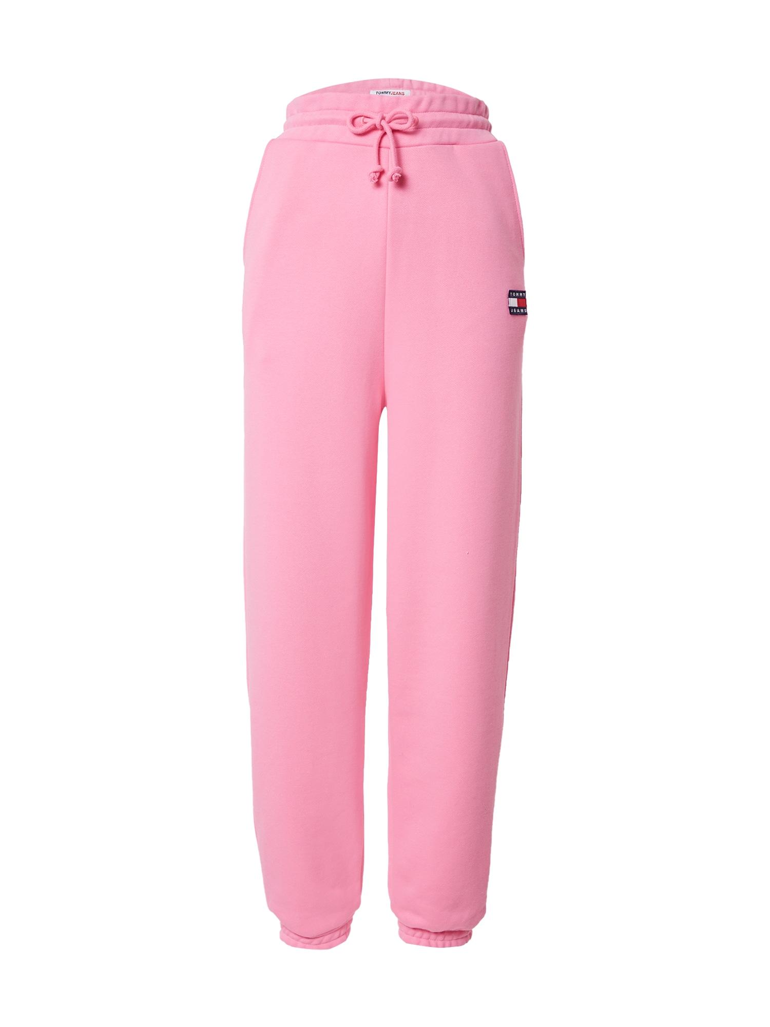Tommy Jeans Kelnės šviesiai rožinė / balta / tamsiai mėlyna / melionų spalva