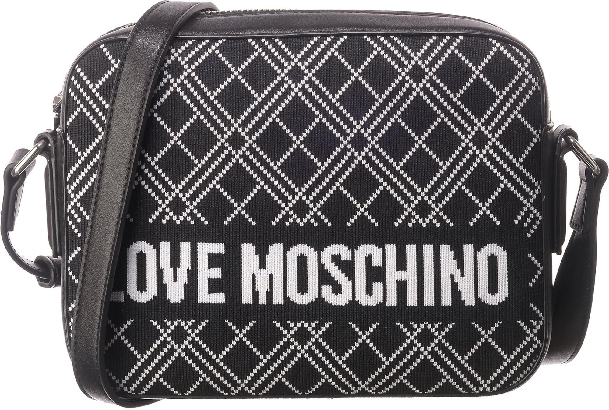 Love Moschino Taška přes rameno 'BORSA'  bílá / černá