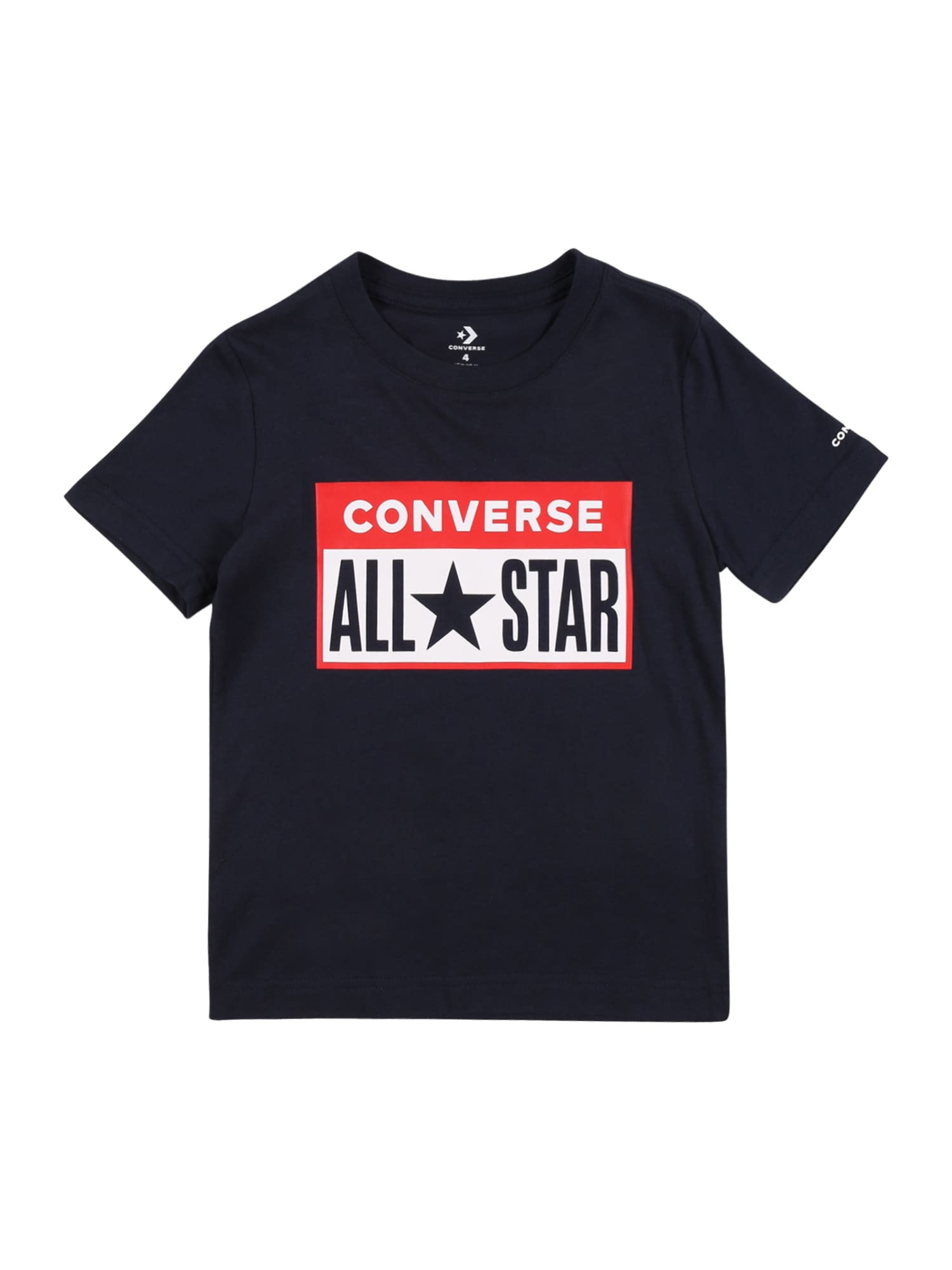 CONVERSE Marškinėliai 'License' tamsiai mėlyna / balta / raudona