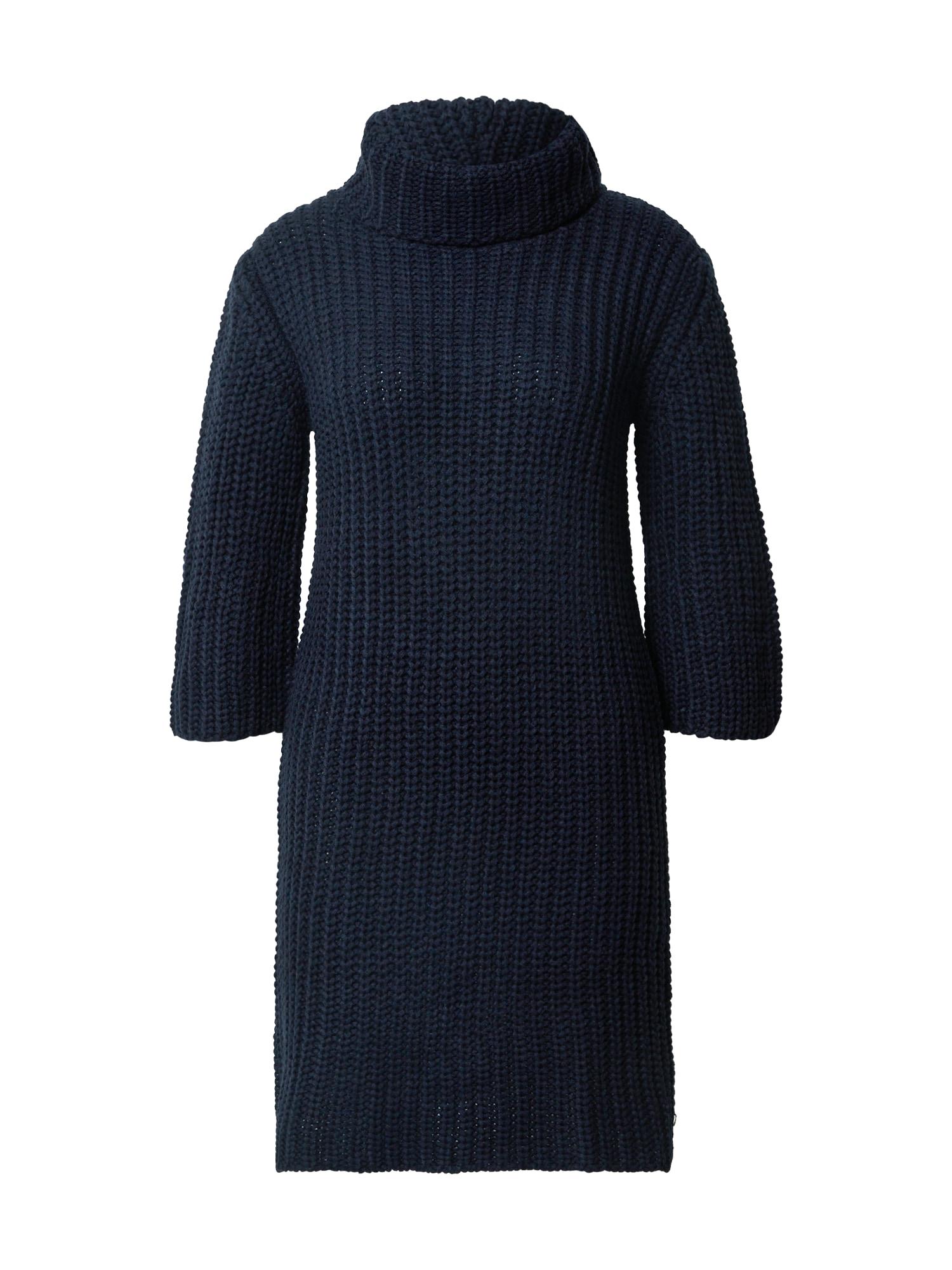 Trendyol Megzta suknelė tamsiai mėlyna