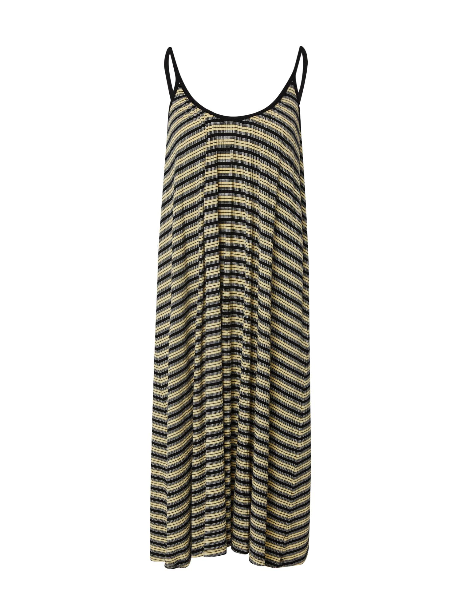 MADS NORGAARD COPENHAGEN Šaty  bílá / černá / žlutá