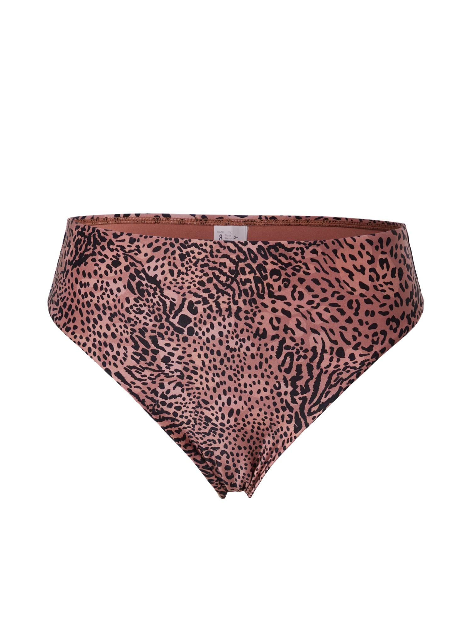 Seafolly Bikinio kelnaitės ryškiai rožinė spalva / juoda