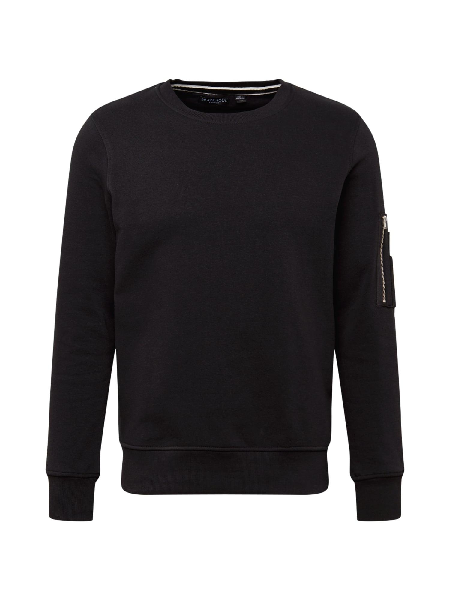 BRAVE SOUL Megztinis be užsegimo juoda