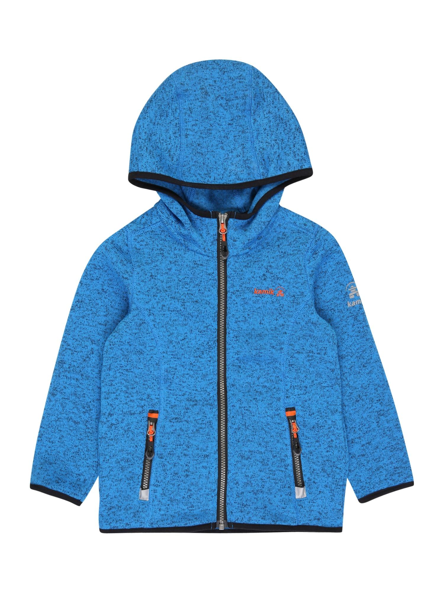 "Kamik Funkcinis flisinis džemperis 'Sawyer' sodri mėlyna (""karališka"") / juoda / oranžinė / pilka"