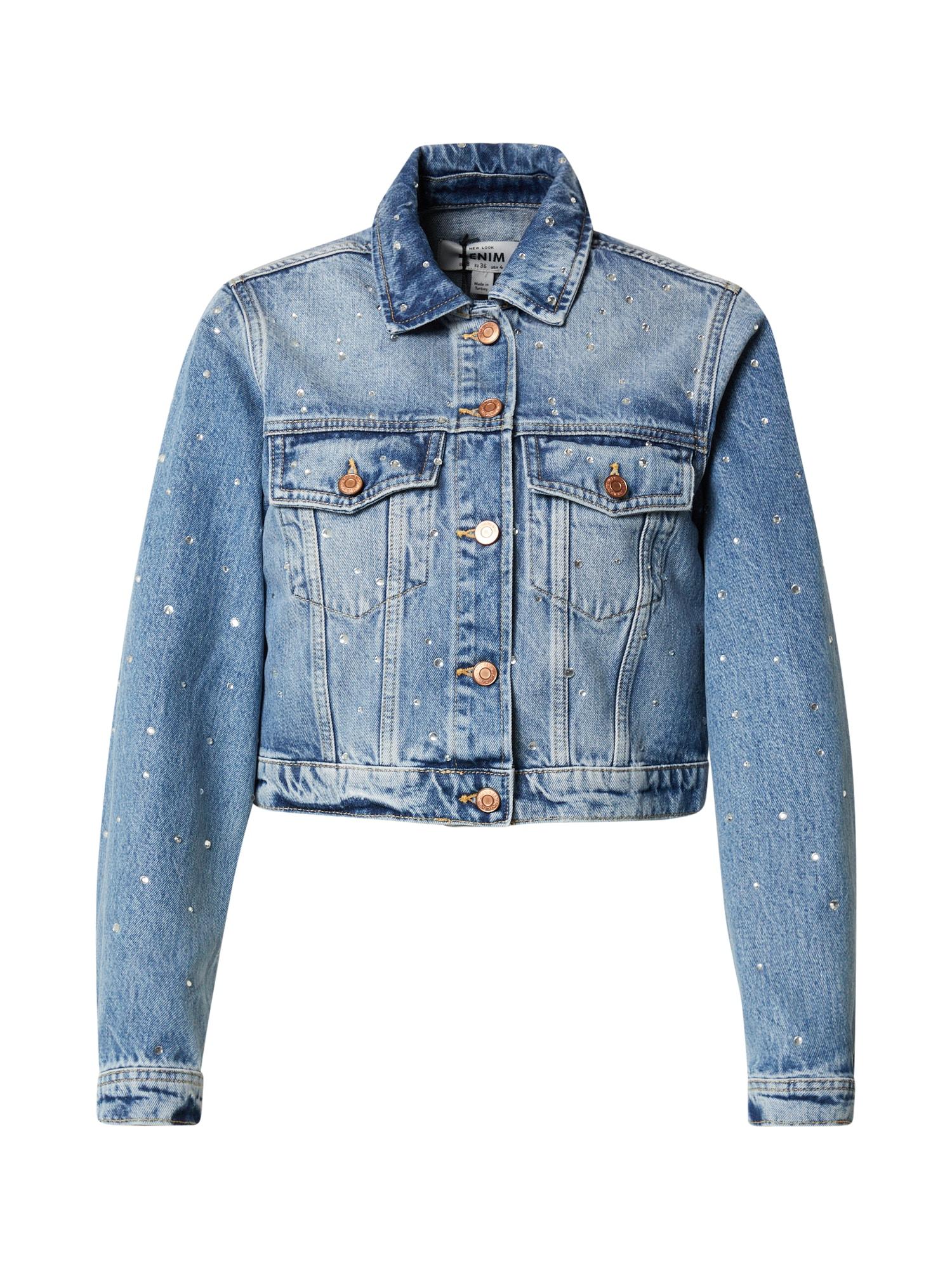 NEW LOOK Demisezoninė striukė tamsiai (džinso) mėlyna