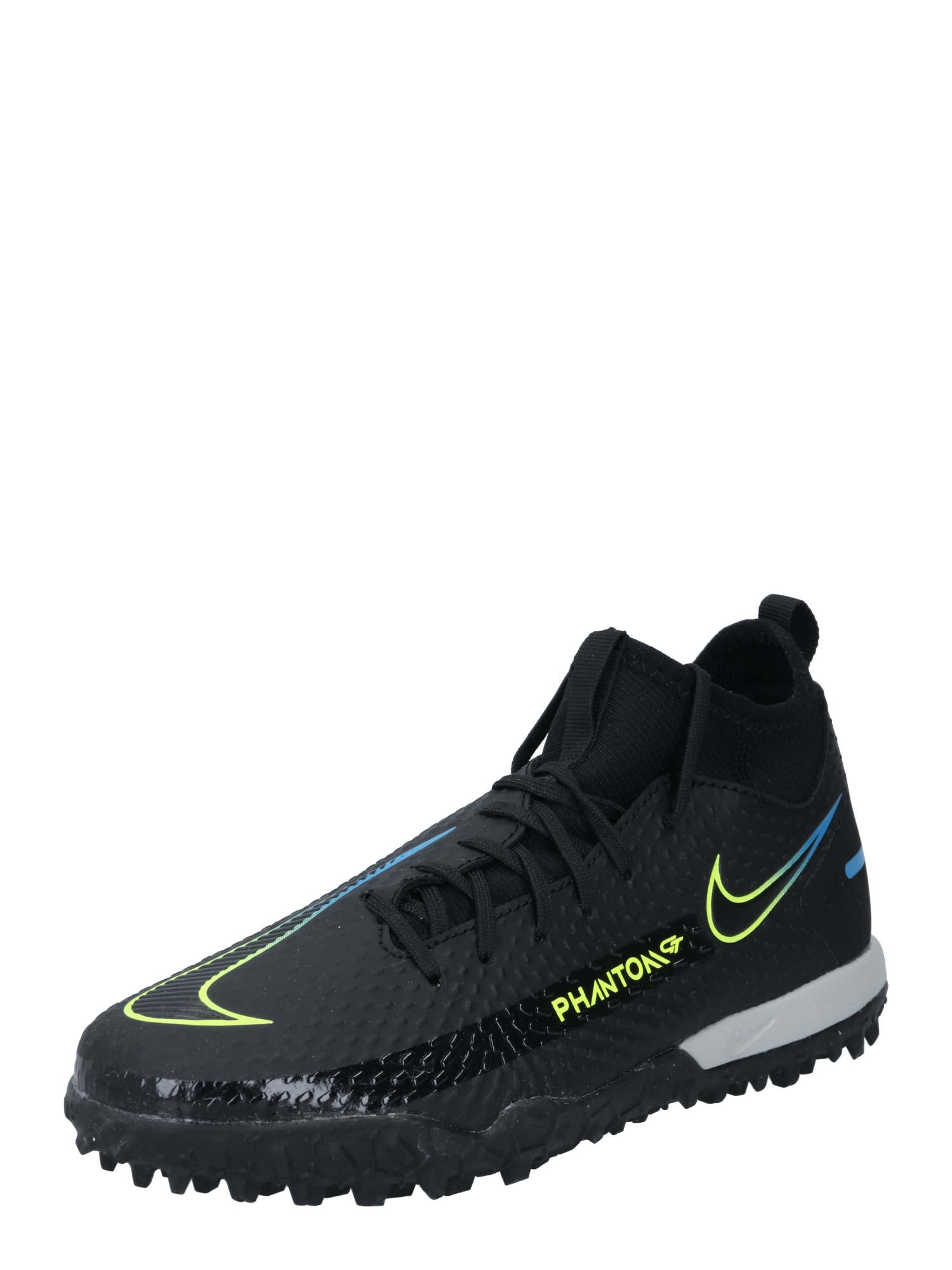 """NIKE Sportiniai batai 'Phantom GT Academy' juoda / geltona / sodri mėlyna (""""karališka"""")"""