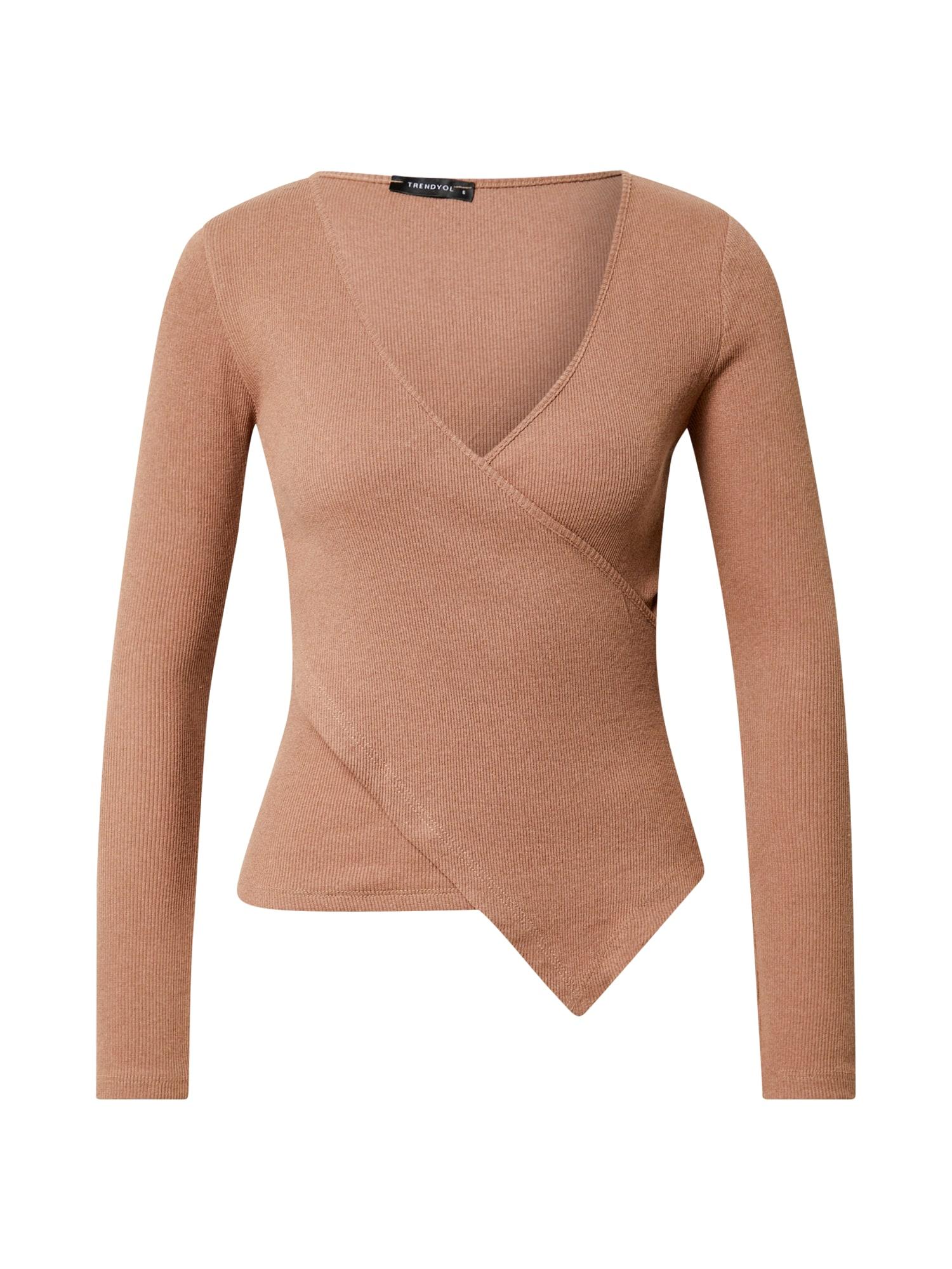 Trendyol Marškinėliai šviesiai ruda