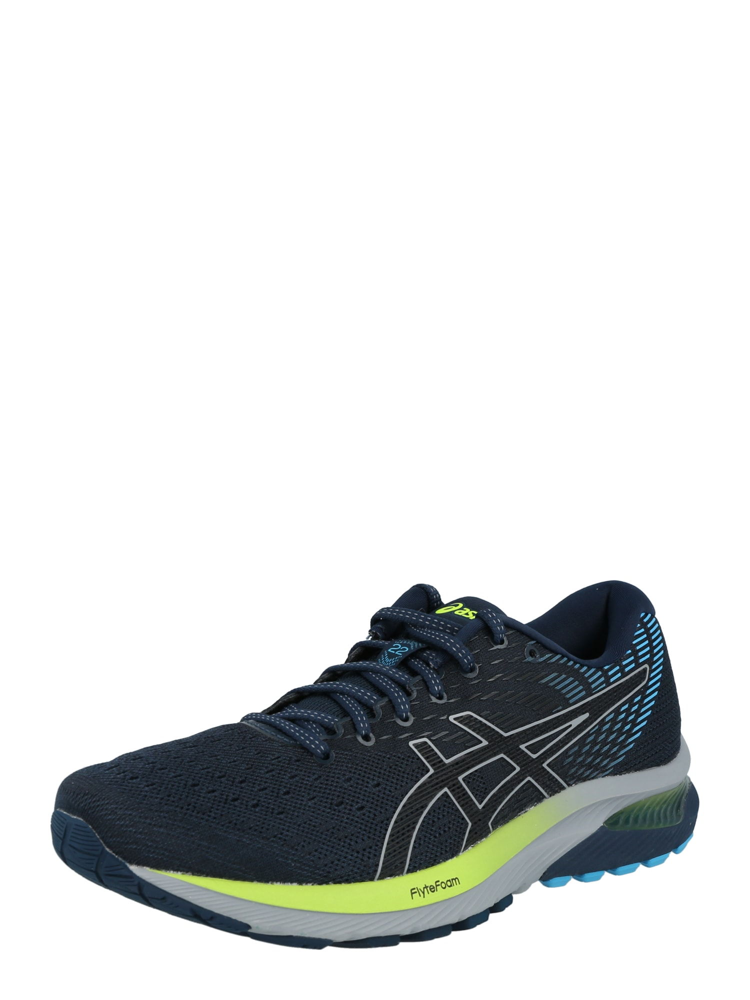 ASICS Sportiniai batai mėlyna / šviesiai pilka / juoda / obuolių spalva