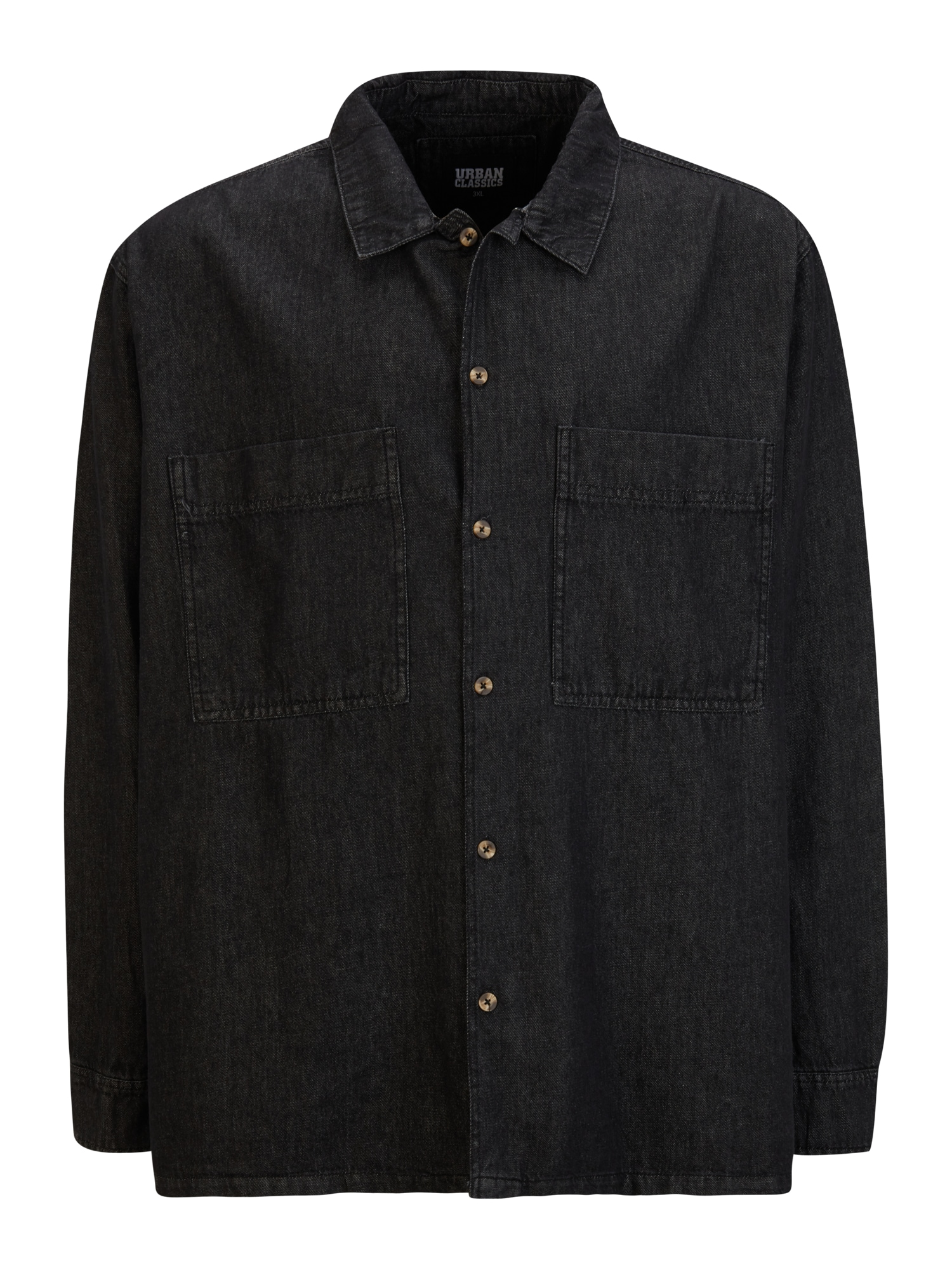 Urban Classics Plus Size Marškiniai juoda