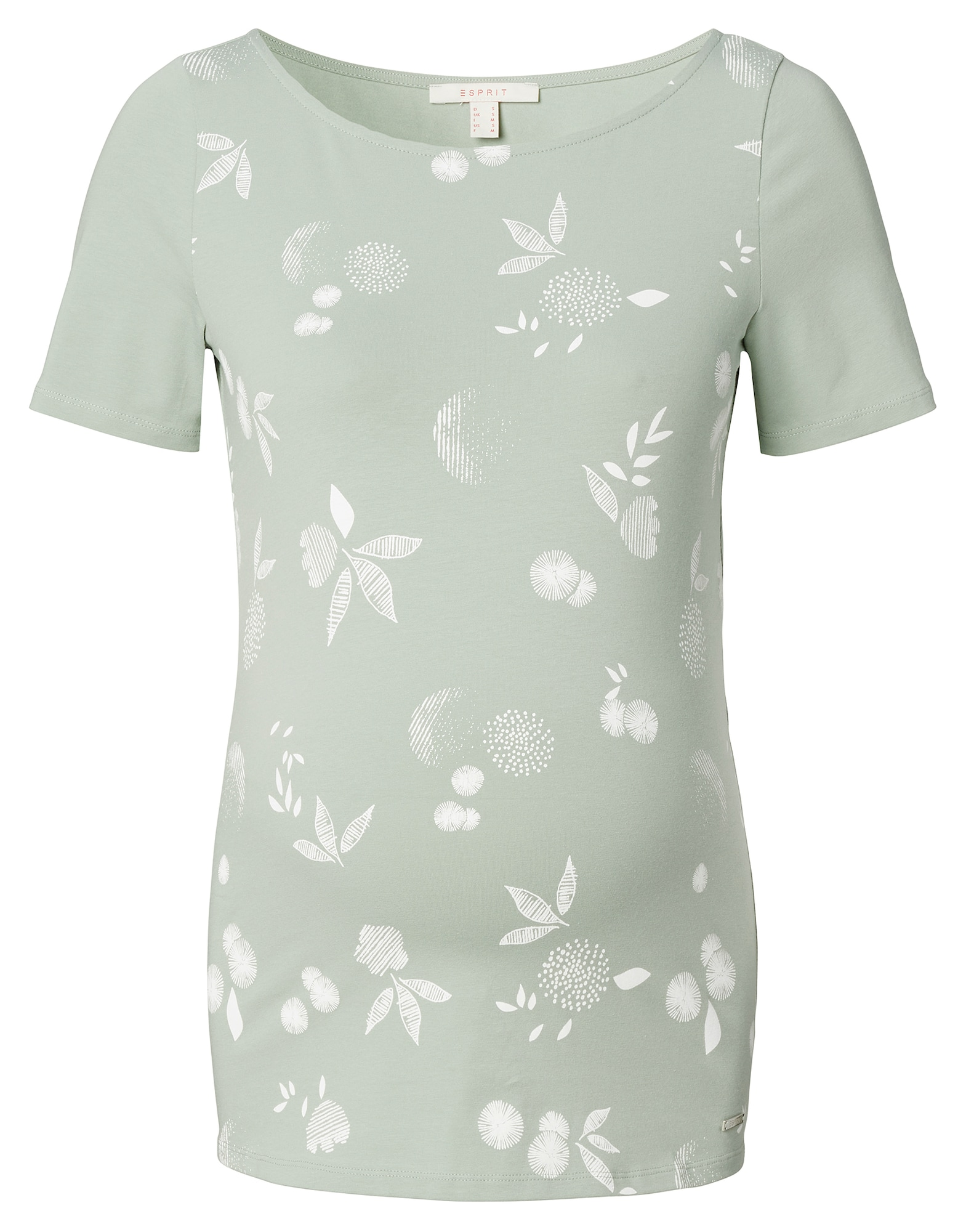 Esprit Maternity Marškinėliai balta / pastelinė žalia