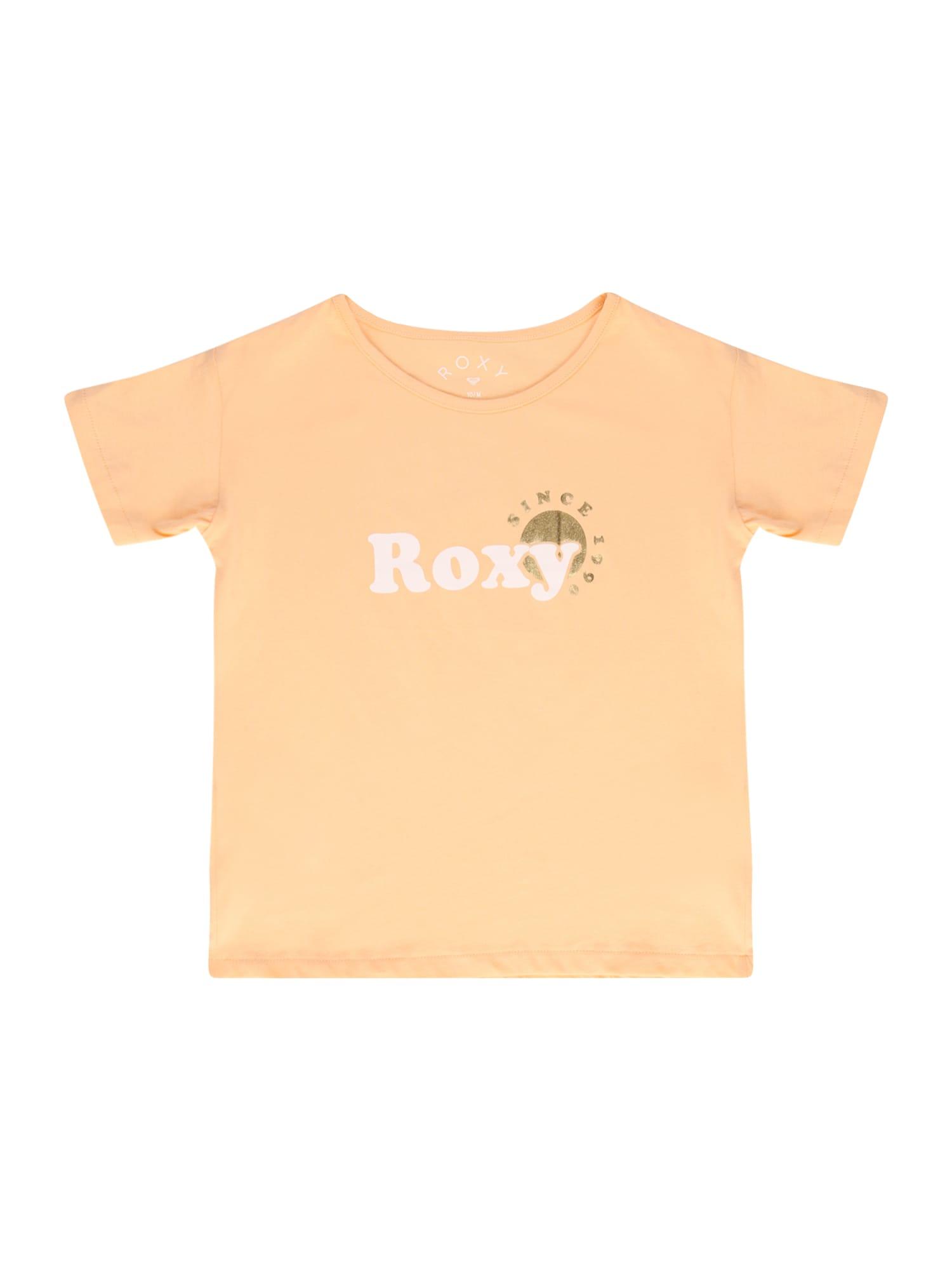 ROXY Marškinėliai abrikosų spalva / balta / auksas