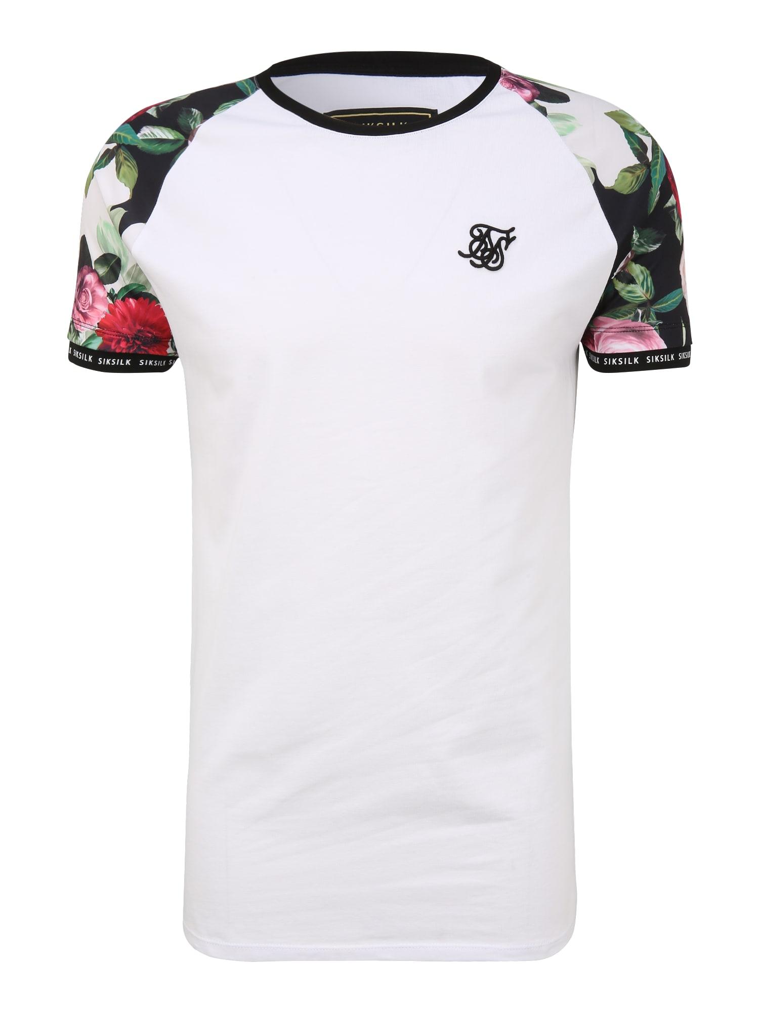 SikSilk Marškinėliai juoda / balta / raudona / žalia / rožinė
