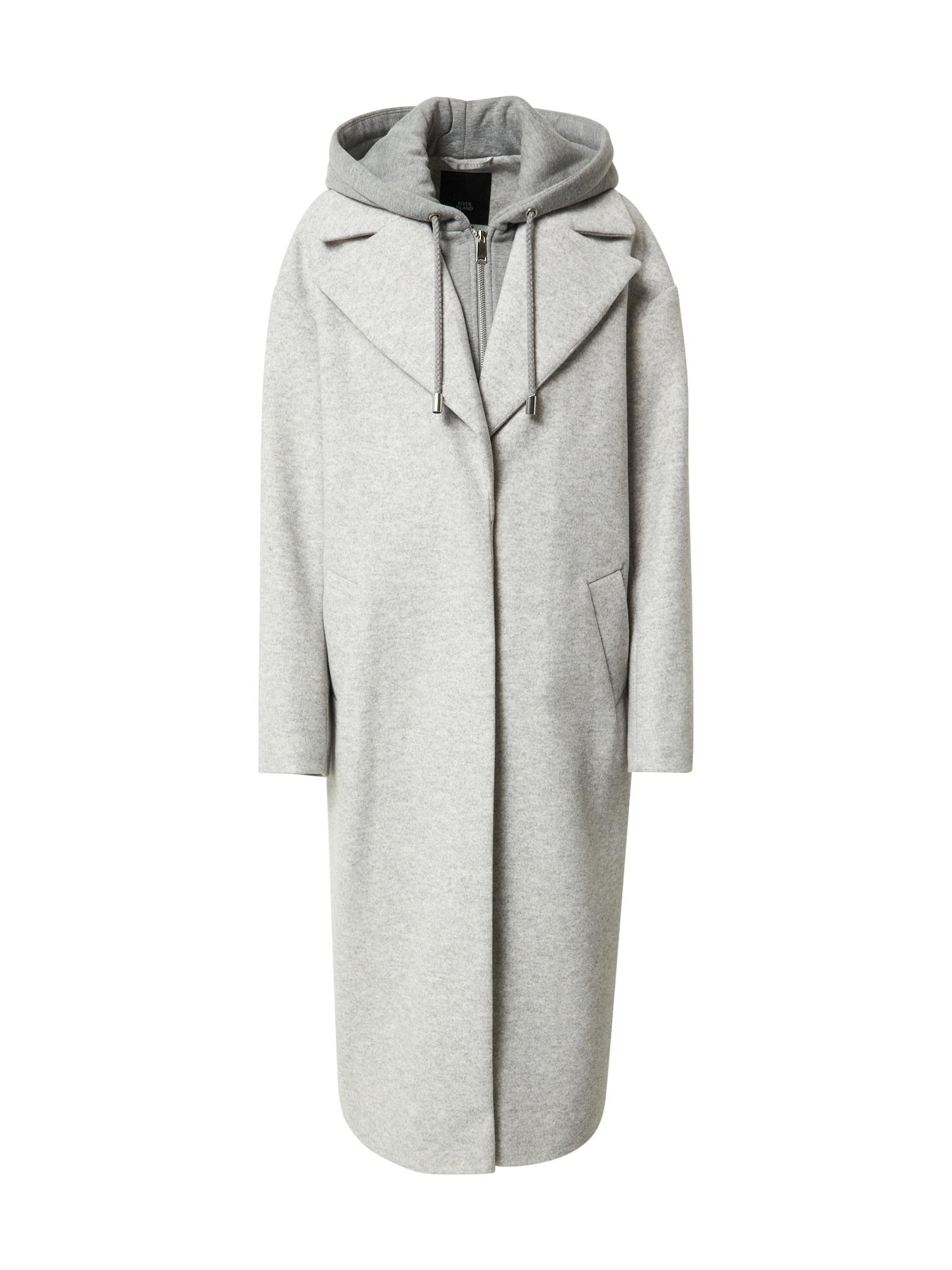 River Island Demisezoninis paltas pilka / šviesiai pilka