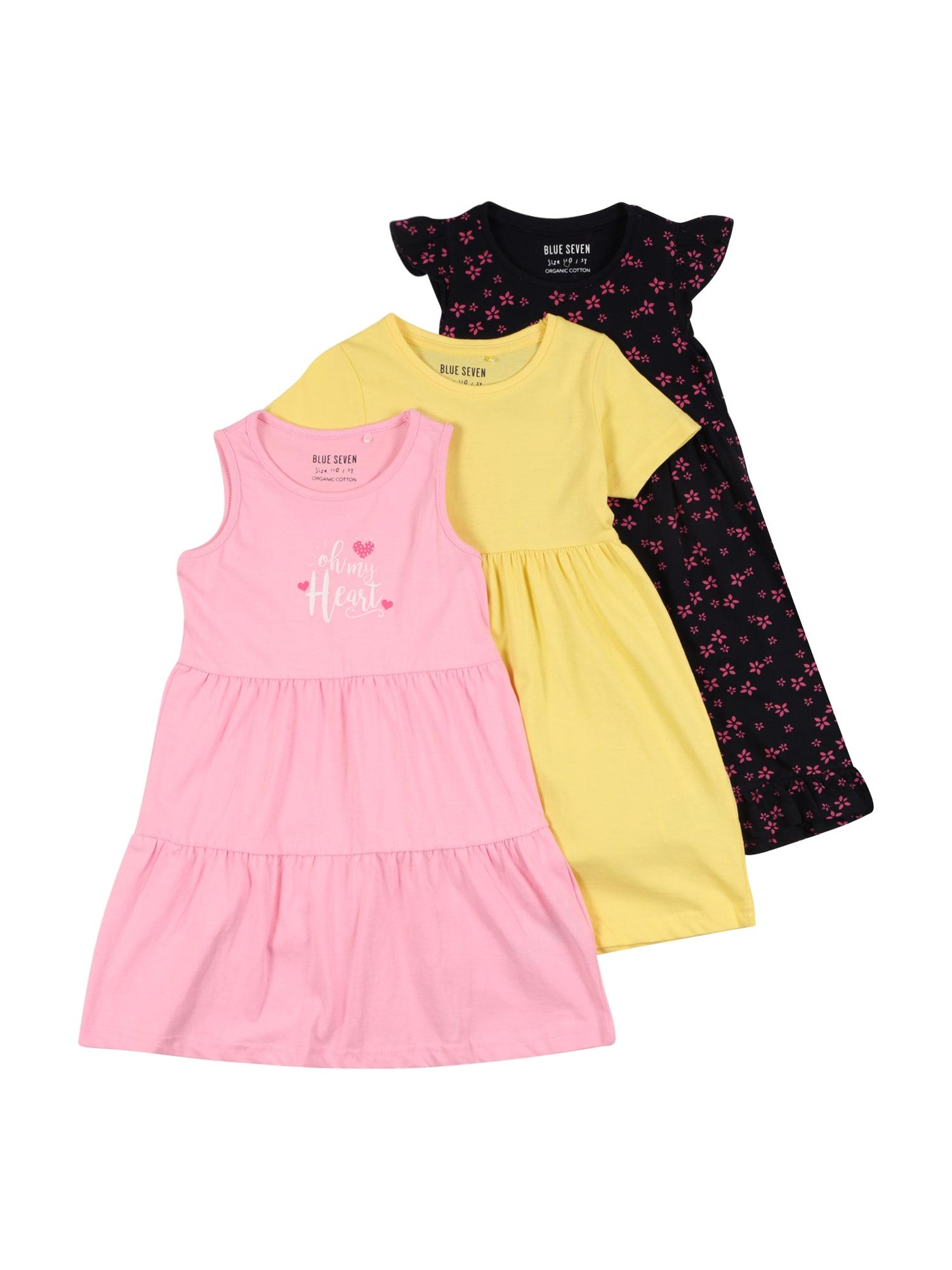 BLUE SEVEN Suknelė geltona / nakties mėlyna / rožinė / balta