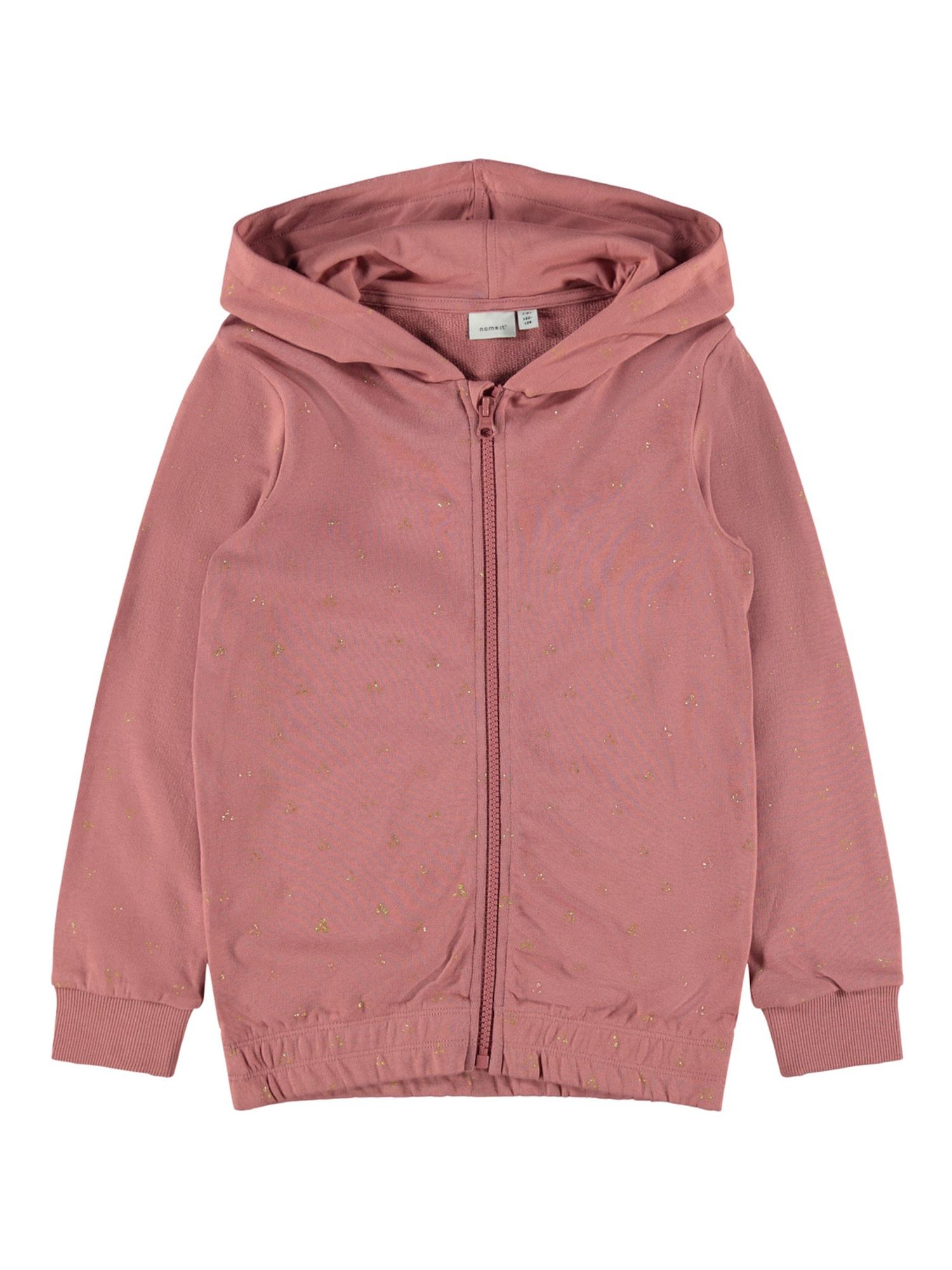 NAME IT Megztinis be užsegimo ryškiai rožinė spalva