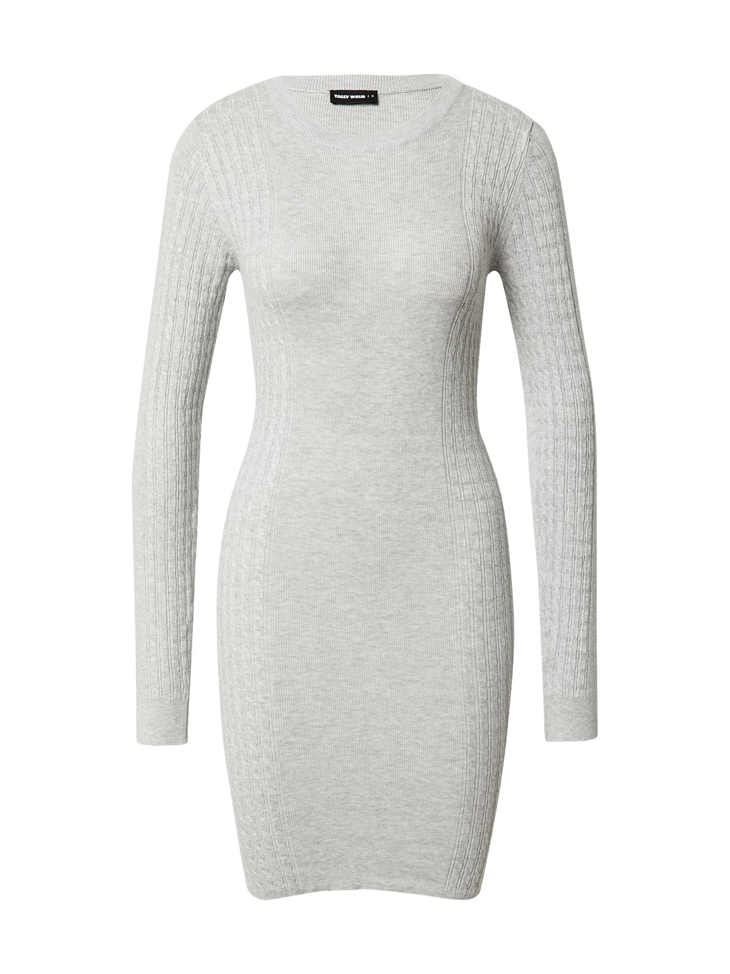 Tally Weijl Úpletové šaty  šedá