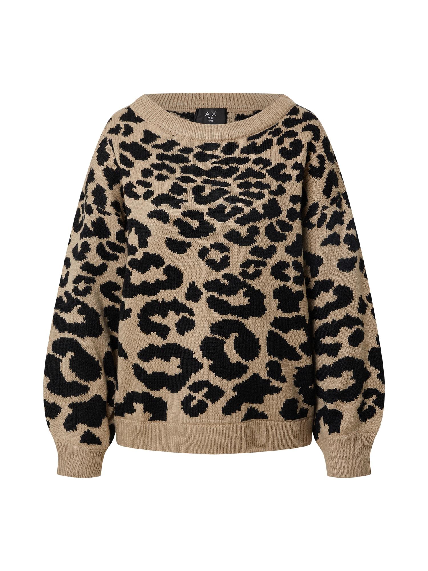 AX Paris Megztinis šviesiai ruda / juoda