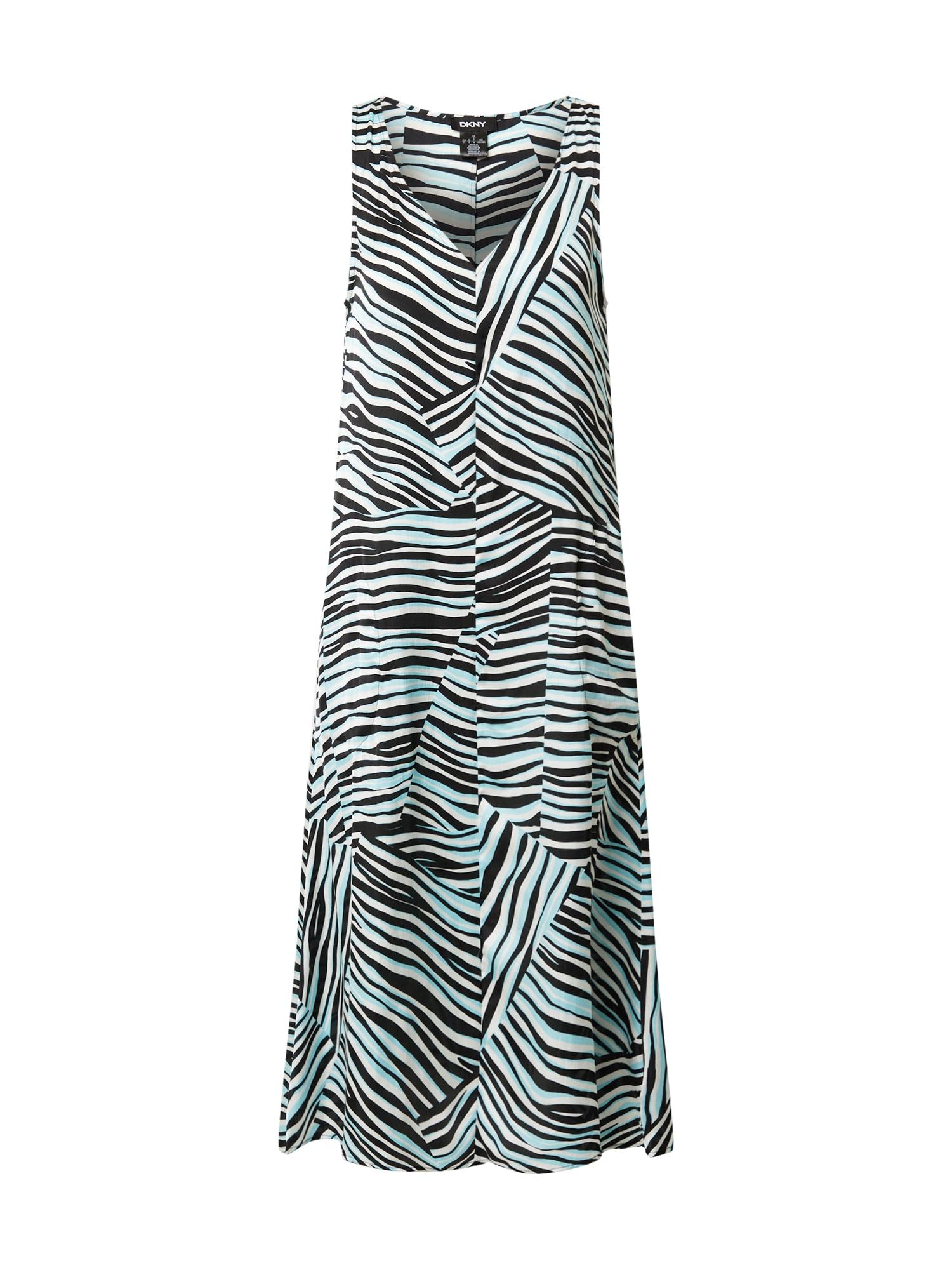 DKNY Suknelė balta / juoda / mėtų spalva