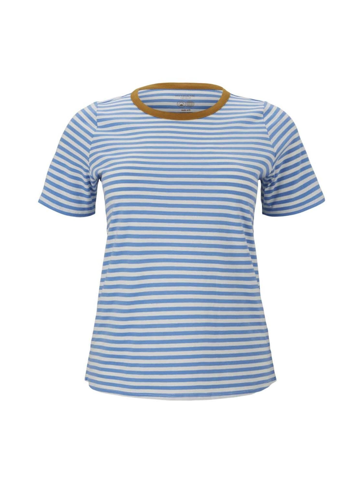 MY TRUE ME Marškinėliai balta / mėlyna / ruda