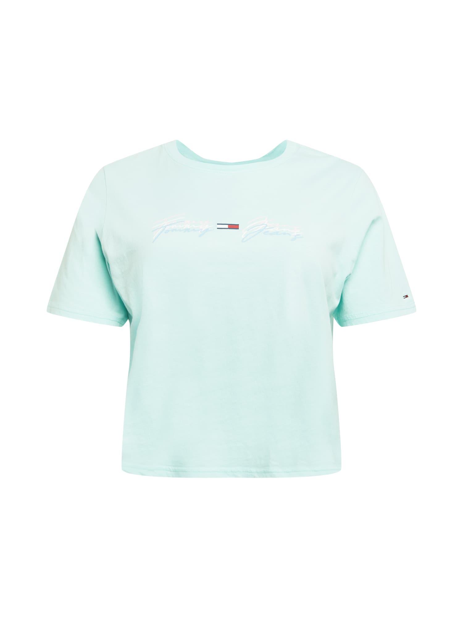 Tommy Jeans Curve Marškinėliai azuro spalva / balta / tamsiai mėlyna / raudona