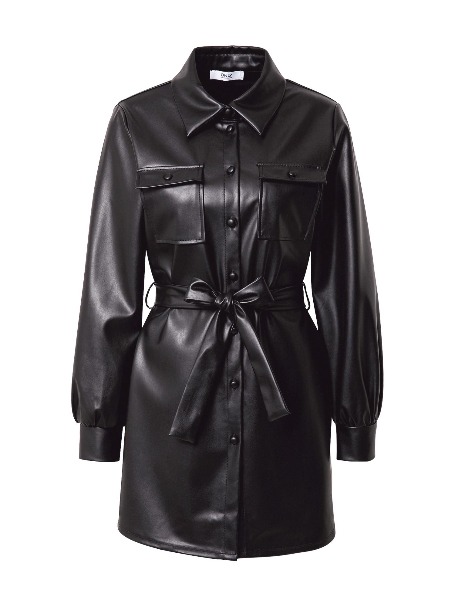 ONLY Košilové šaty 'Ruma'  černá