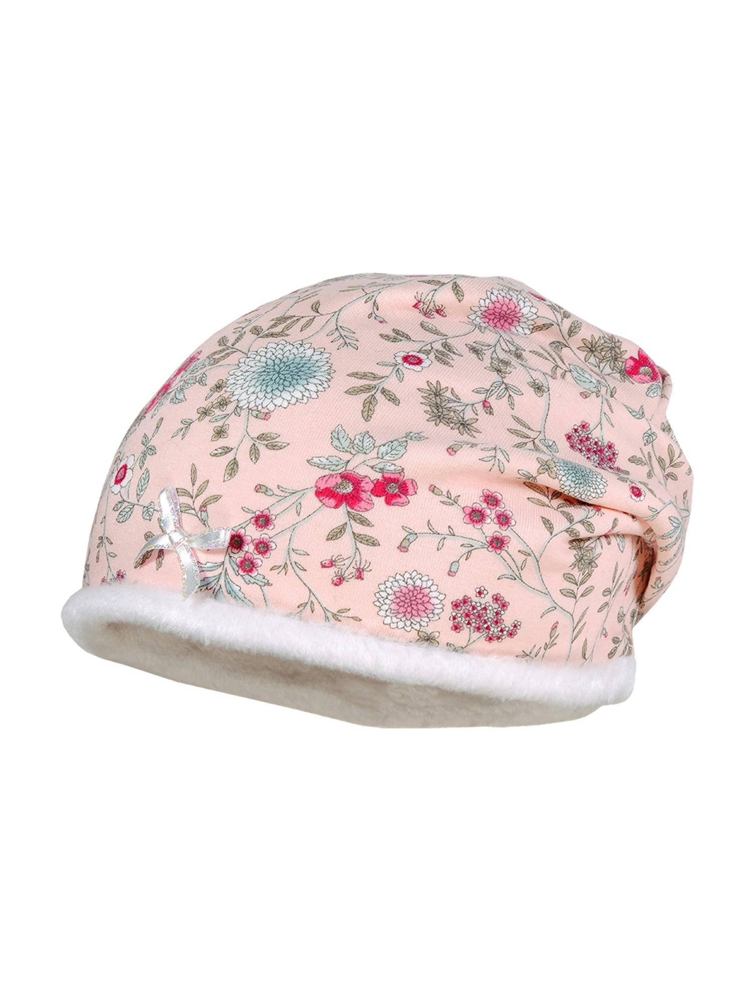 MAXIMO Megzta kepurė rožinė / ryškiai rožinė spalva / balta