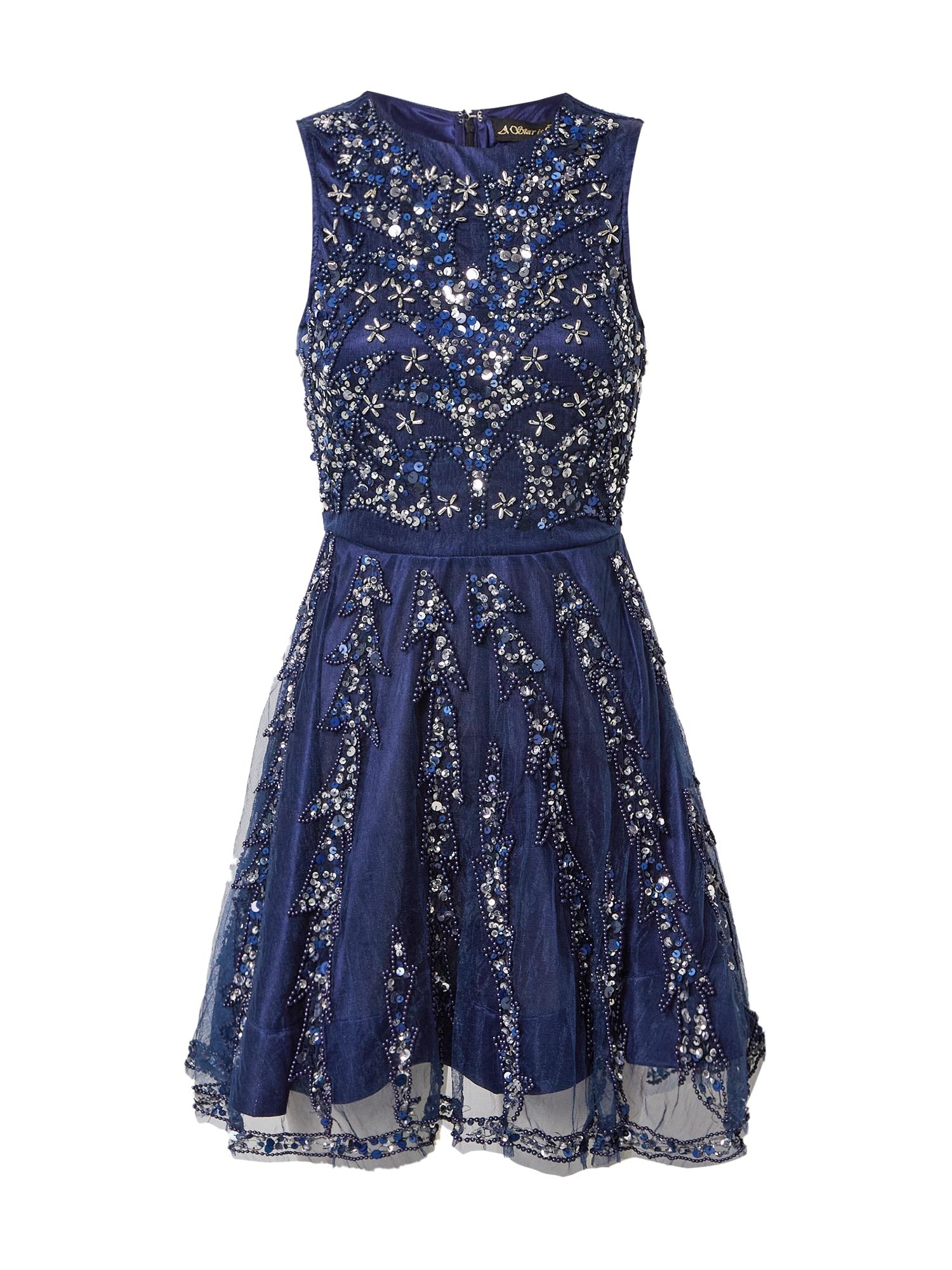 A STAR IS BORN Kokteilinė suknelė sidabrinė / tamsiai mėlyna